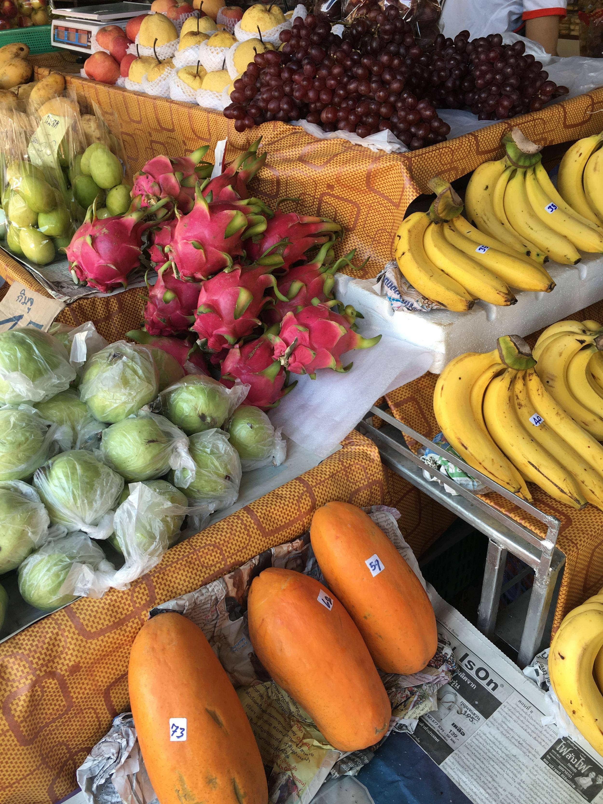 Dragonfruit and papaya