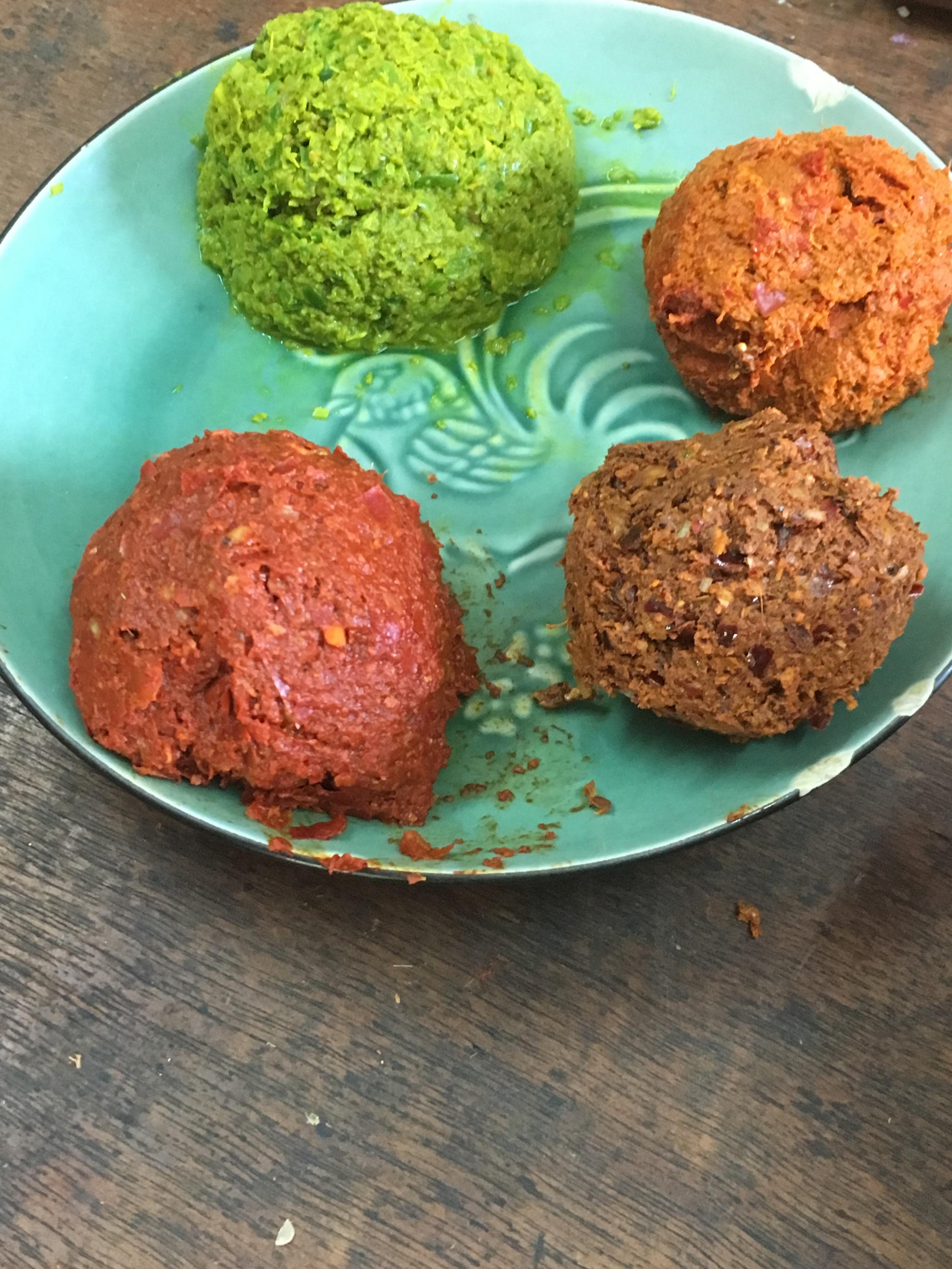 Green, penang, massaman and red curry pastes