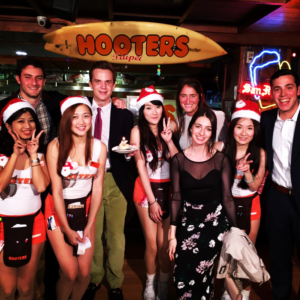 Christmas at Hooters Taipei, of course