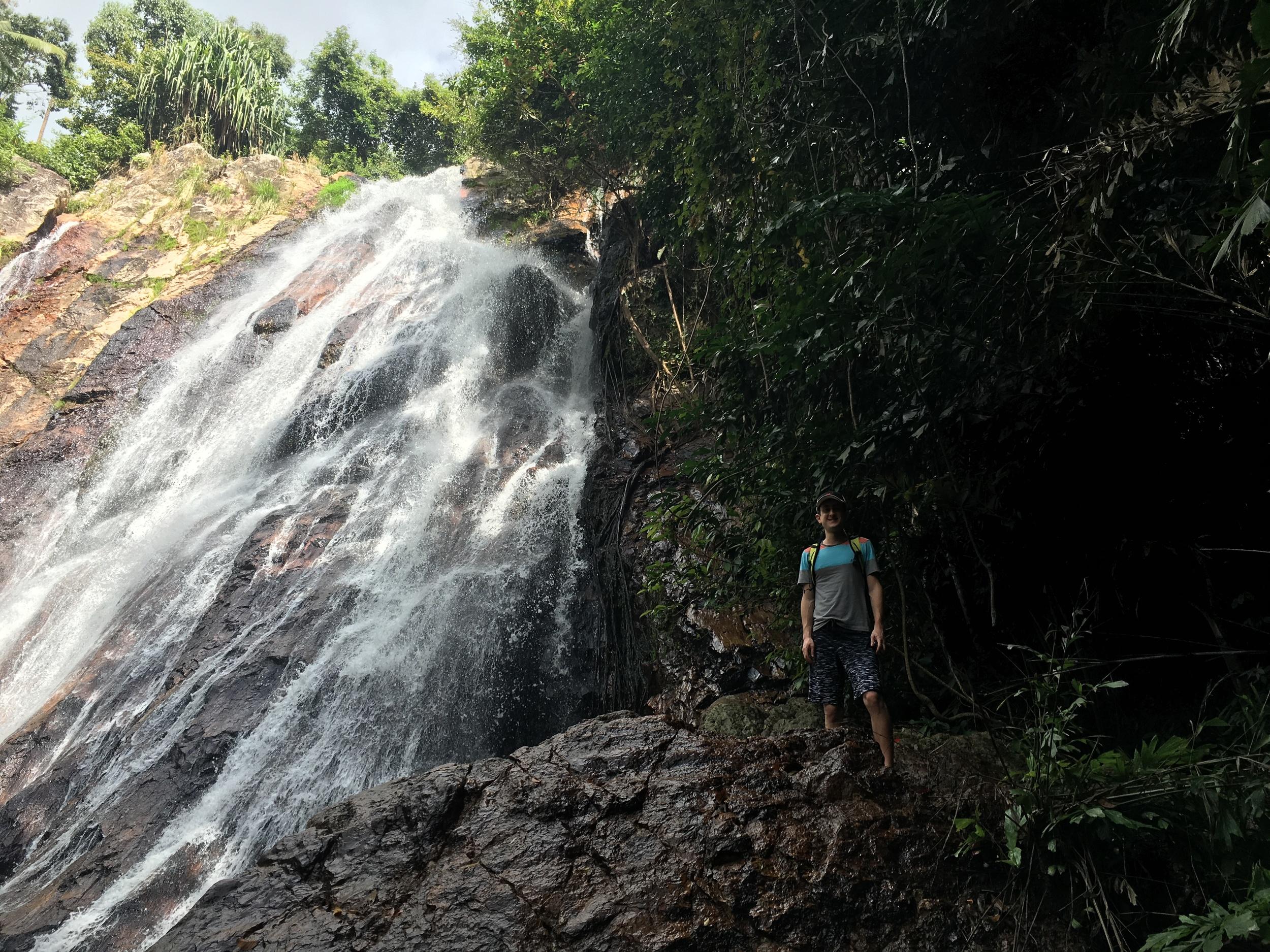 Scott and waterfall