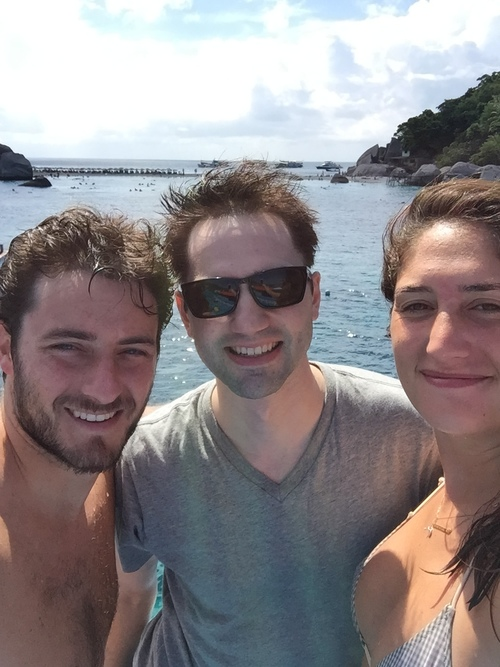 After Sean's first scuba dive!