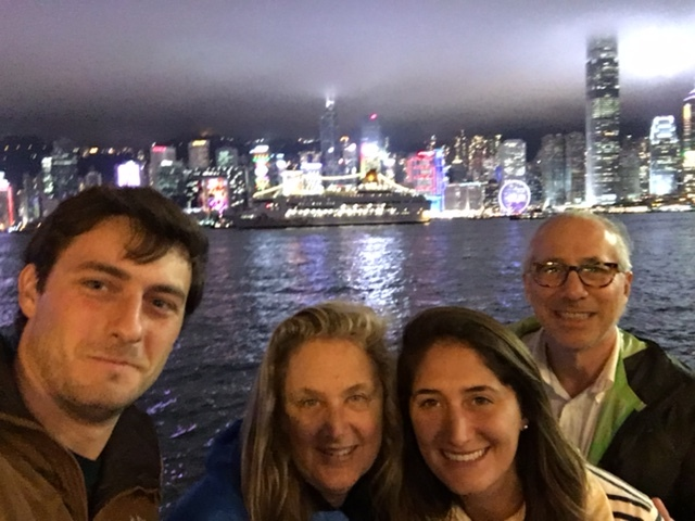 HK Skyline selfie, before our next meal