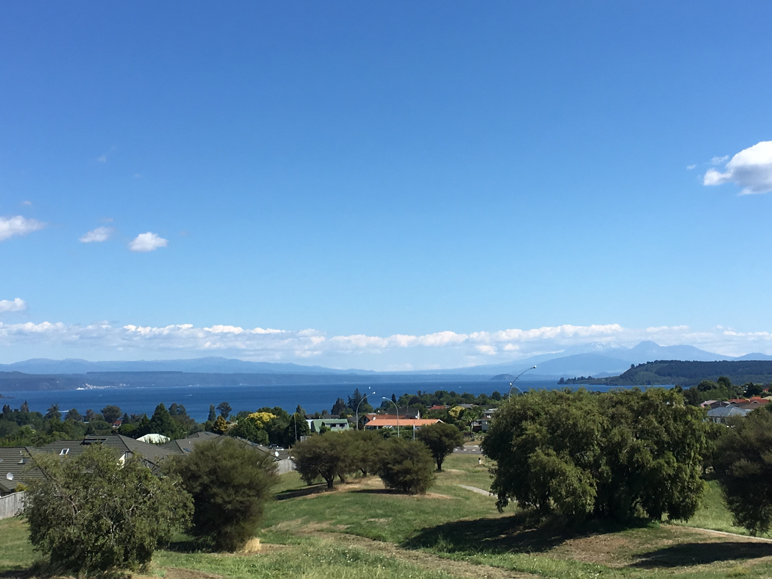 Stopped by Lake Taupo on our drive from the airport