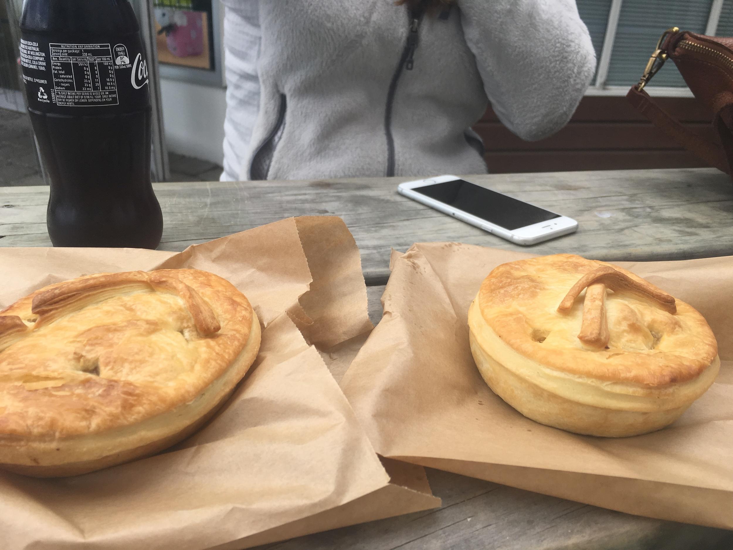 Traditional kiwi pies in Te Anau