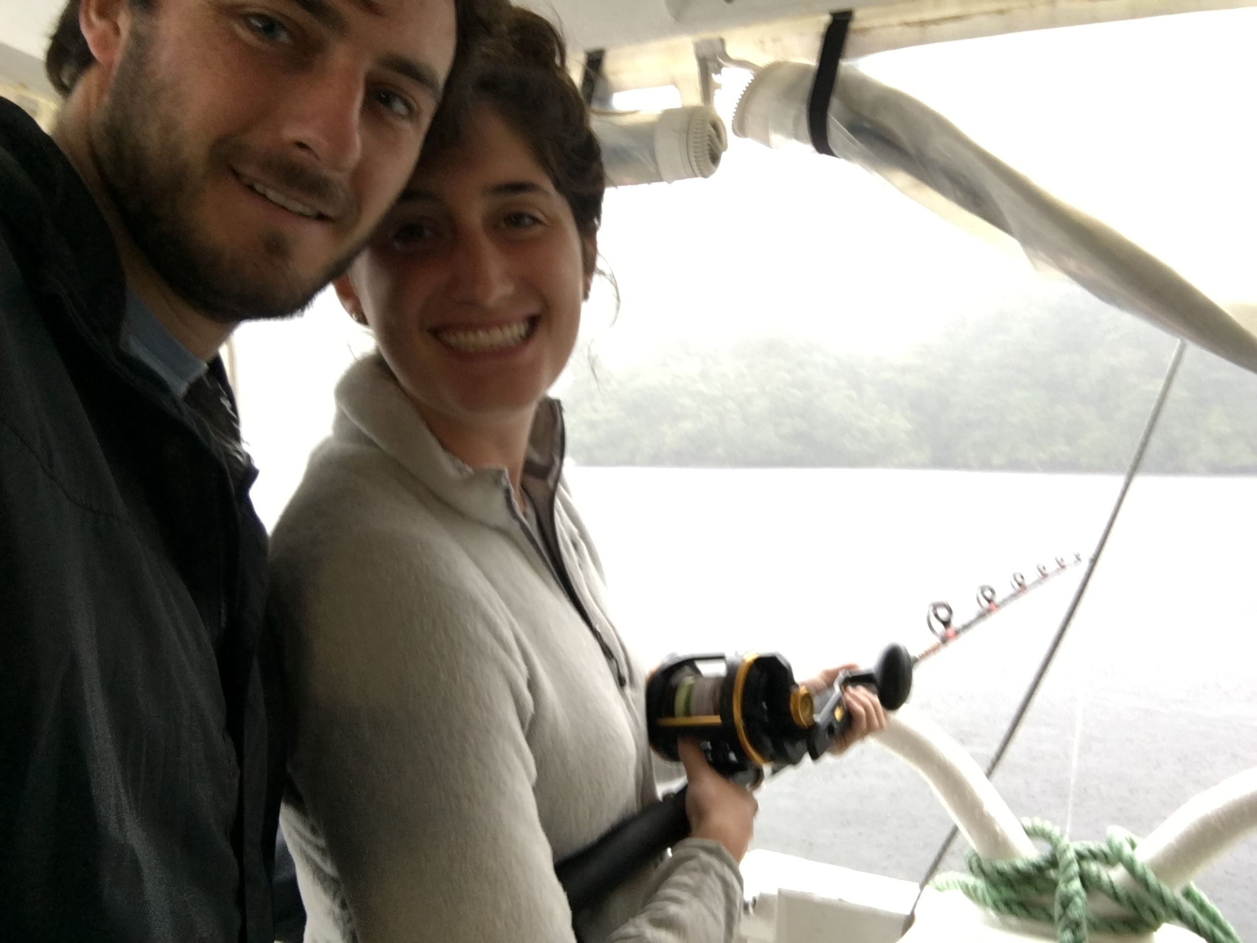 Fishing (unsuccessfully) for dinner on Doubtful Sound