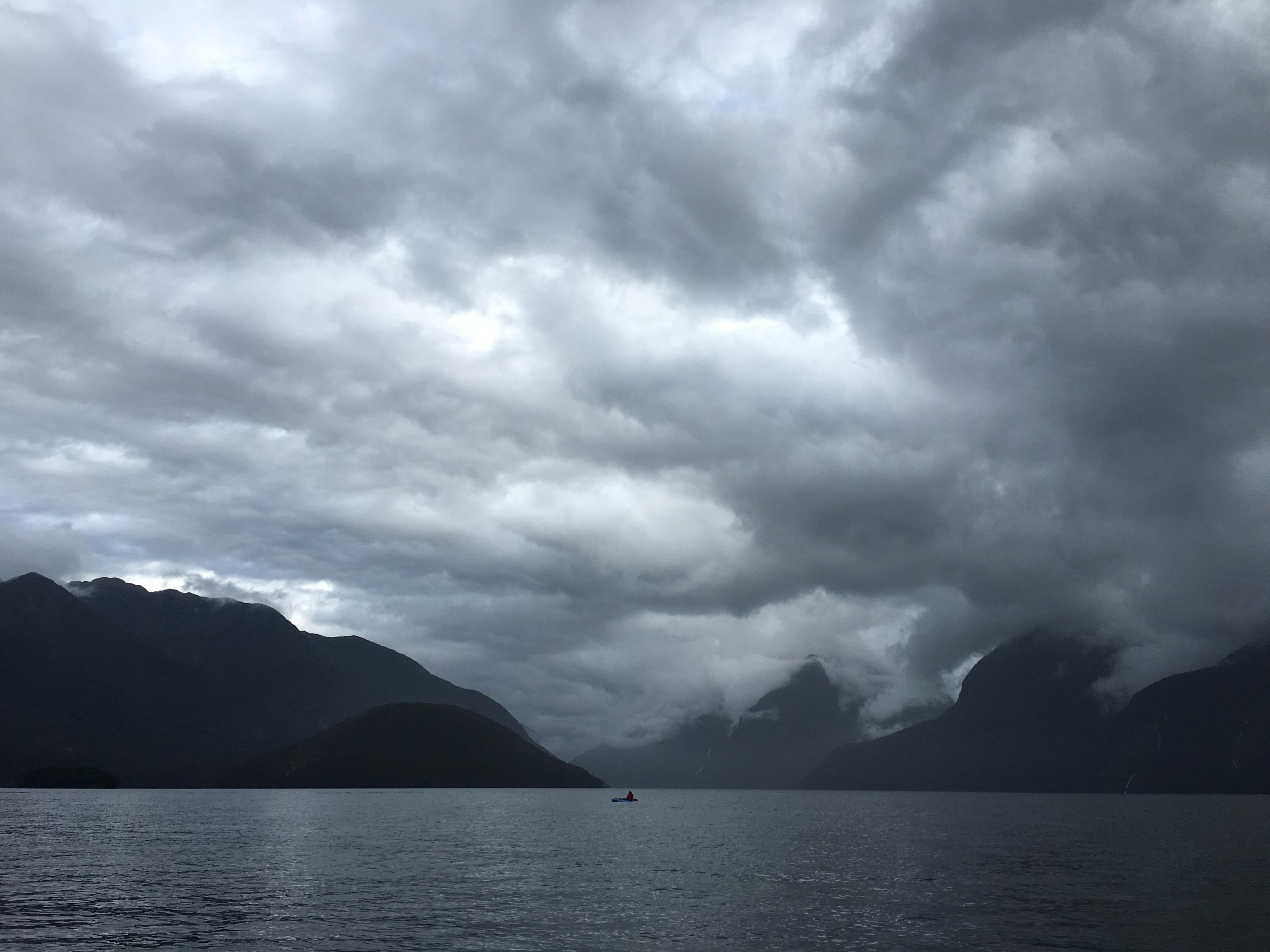 Kayaking in Doubtful Sound