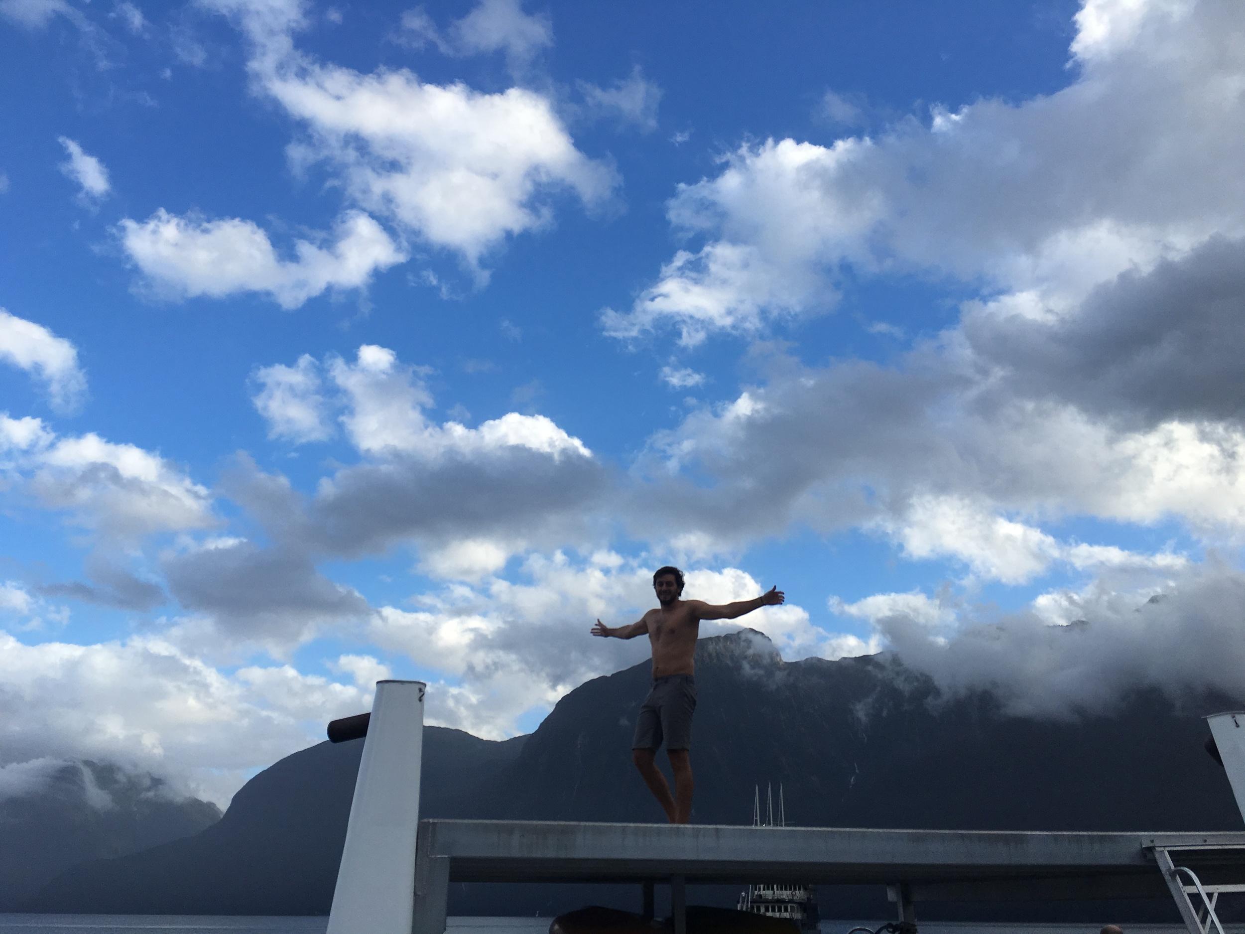Crazy Cole ready to dive into frigid Doubtful Sound