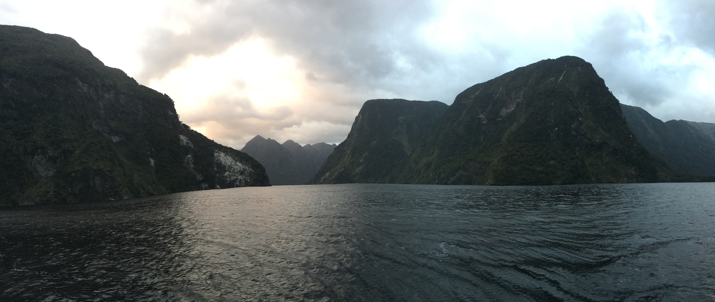 Sunset over Doubtful Sound