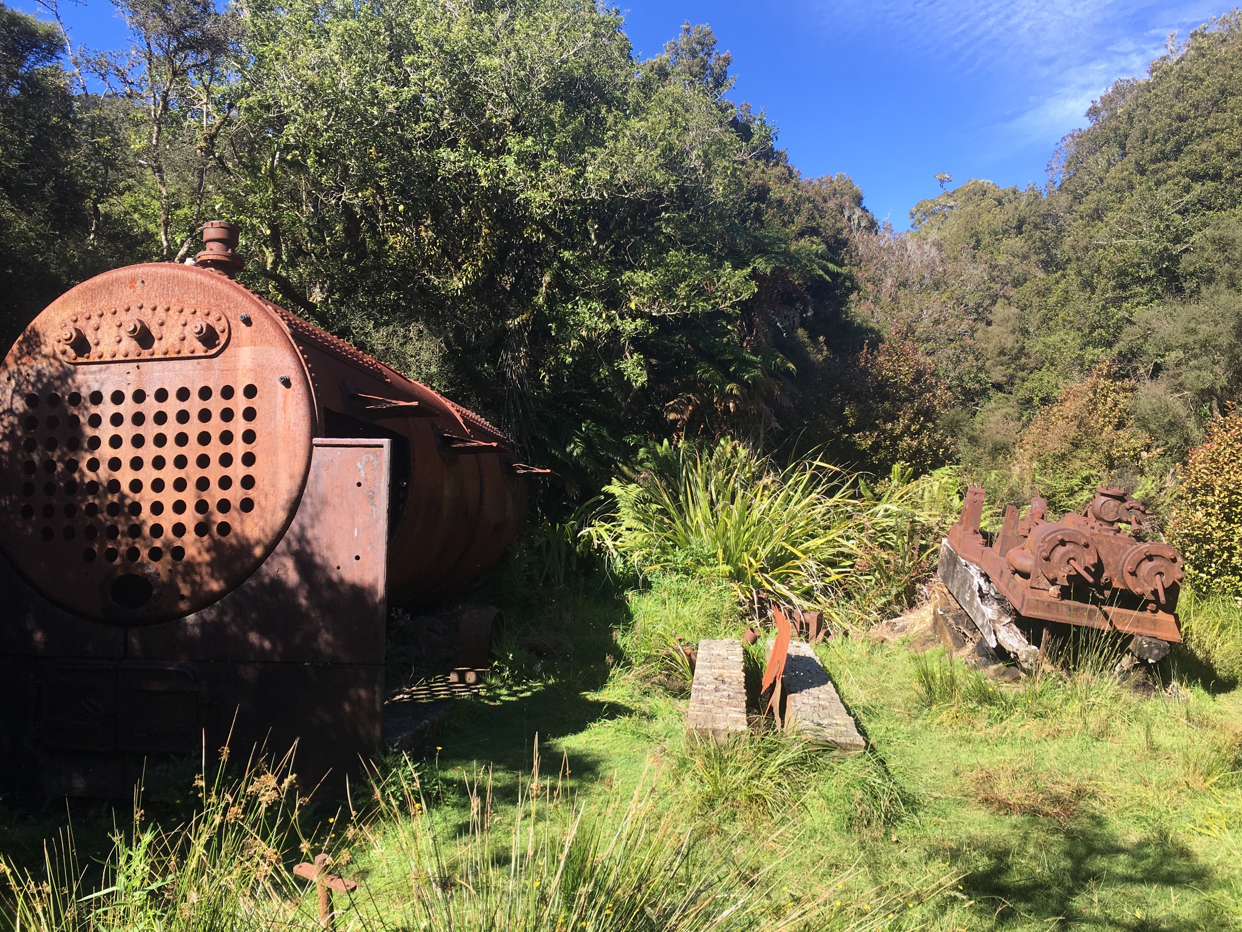 Logging factory ruins on the Rakiura Track