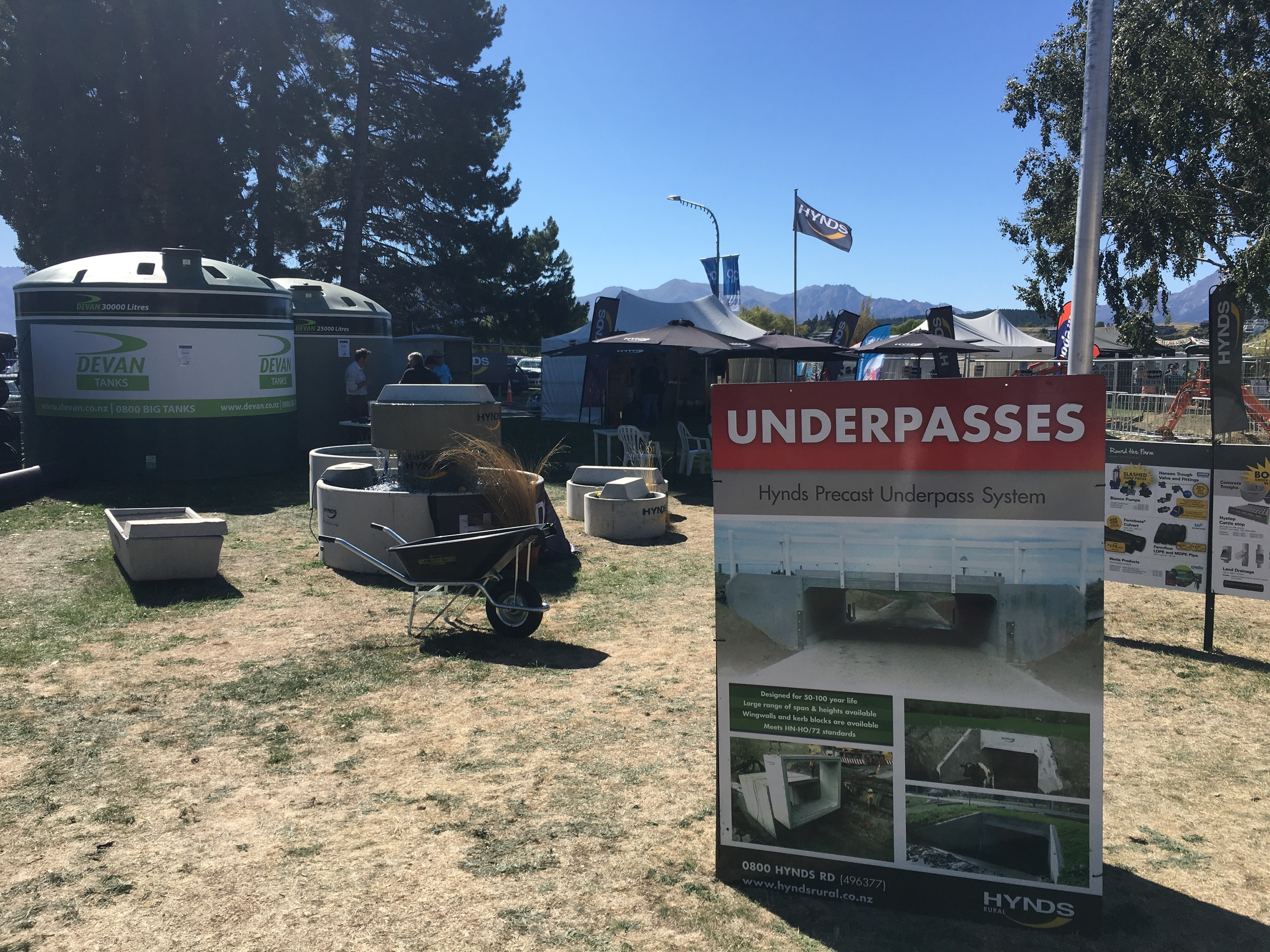 Typical stand at the Wanaka Agricultural + Pastoral Show