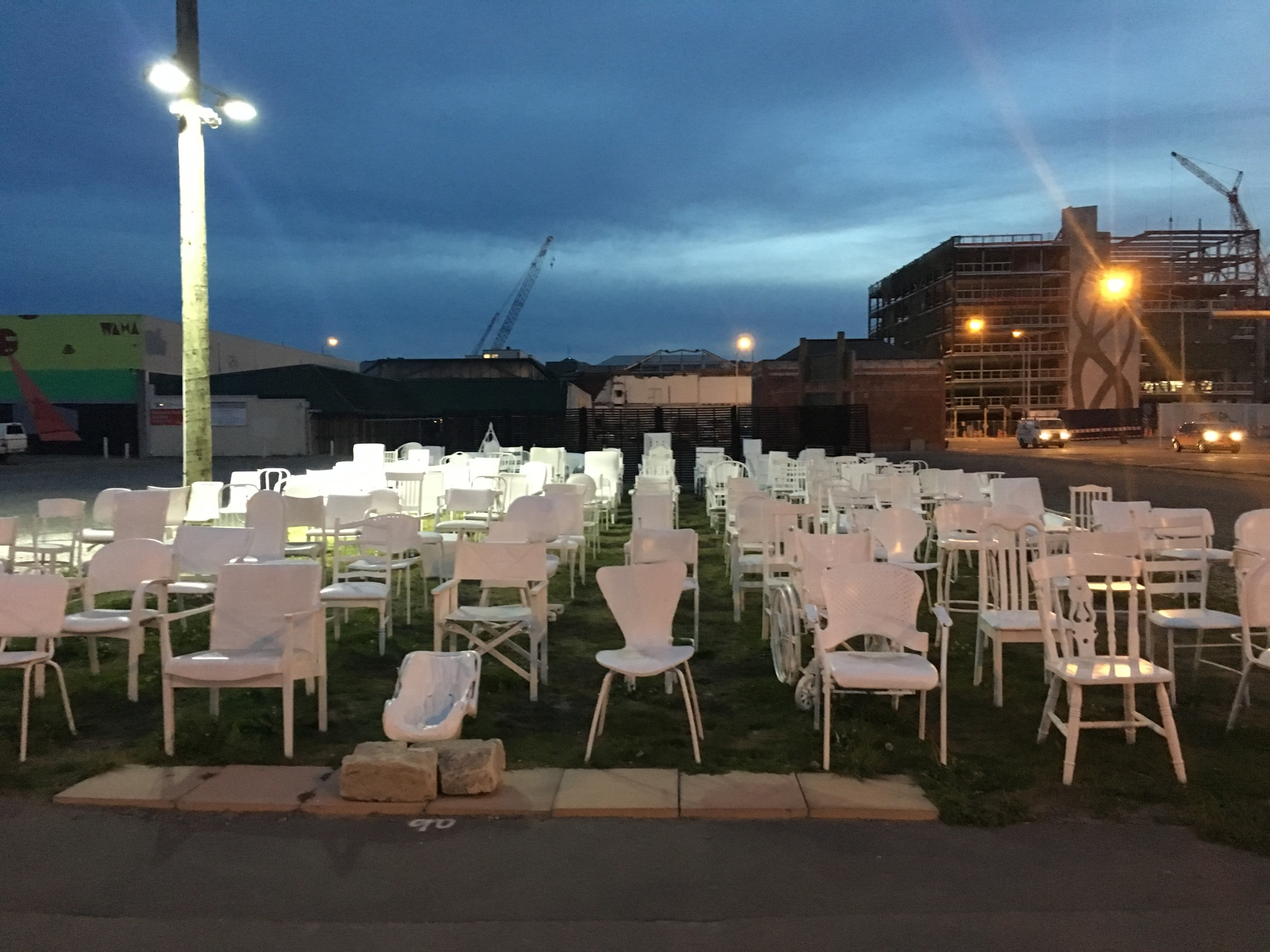 185 Chairs Earthquake Memorial