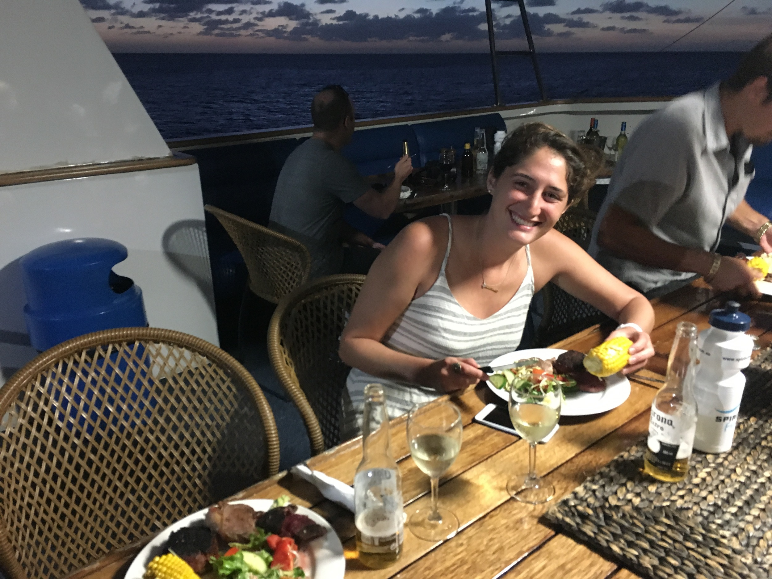 Final night BBQ on the boat