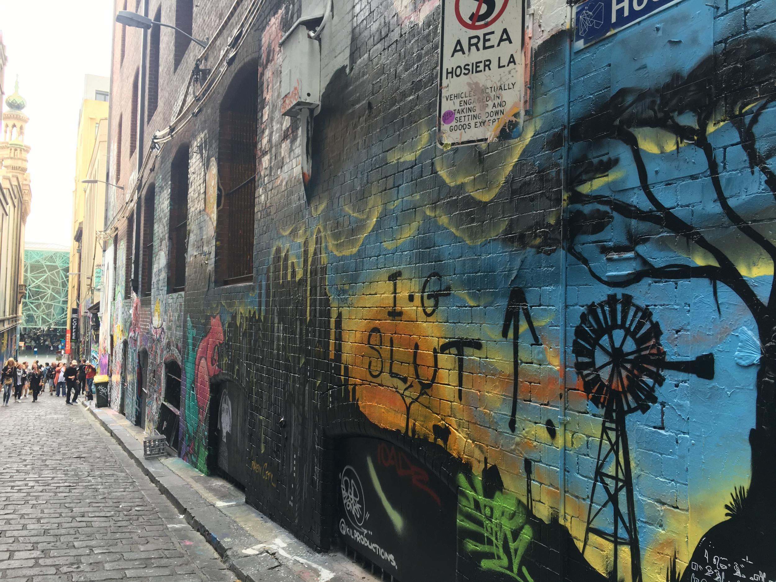 Aggressive street art