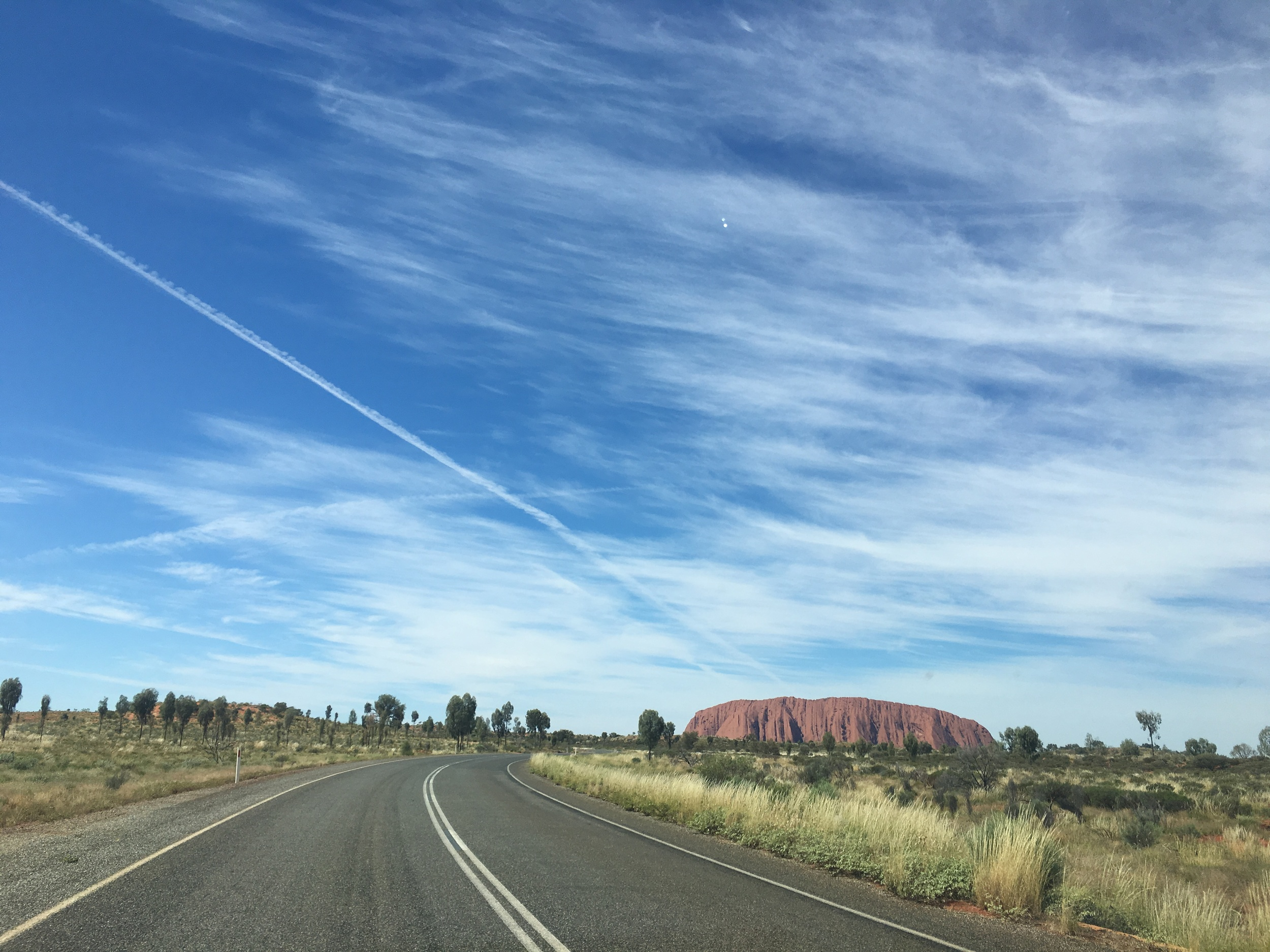 Driving back toward Uluru