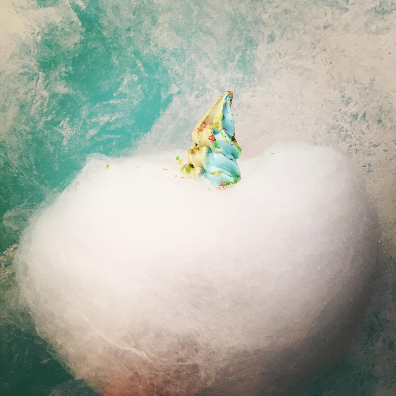Aqua S ice cream in fairy floss