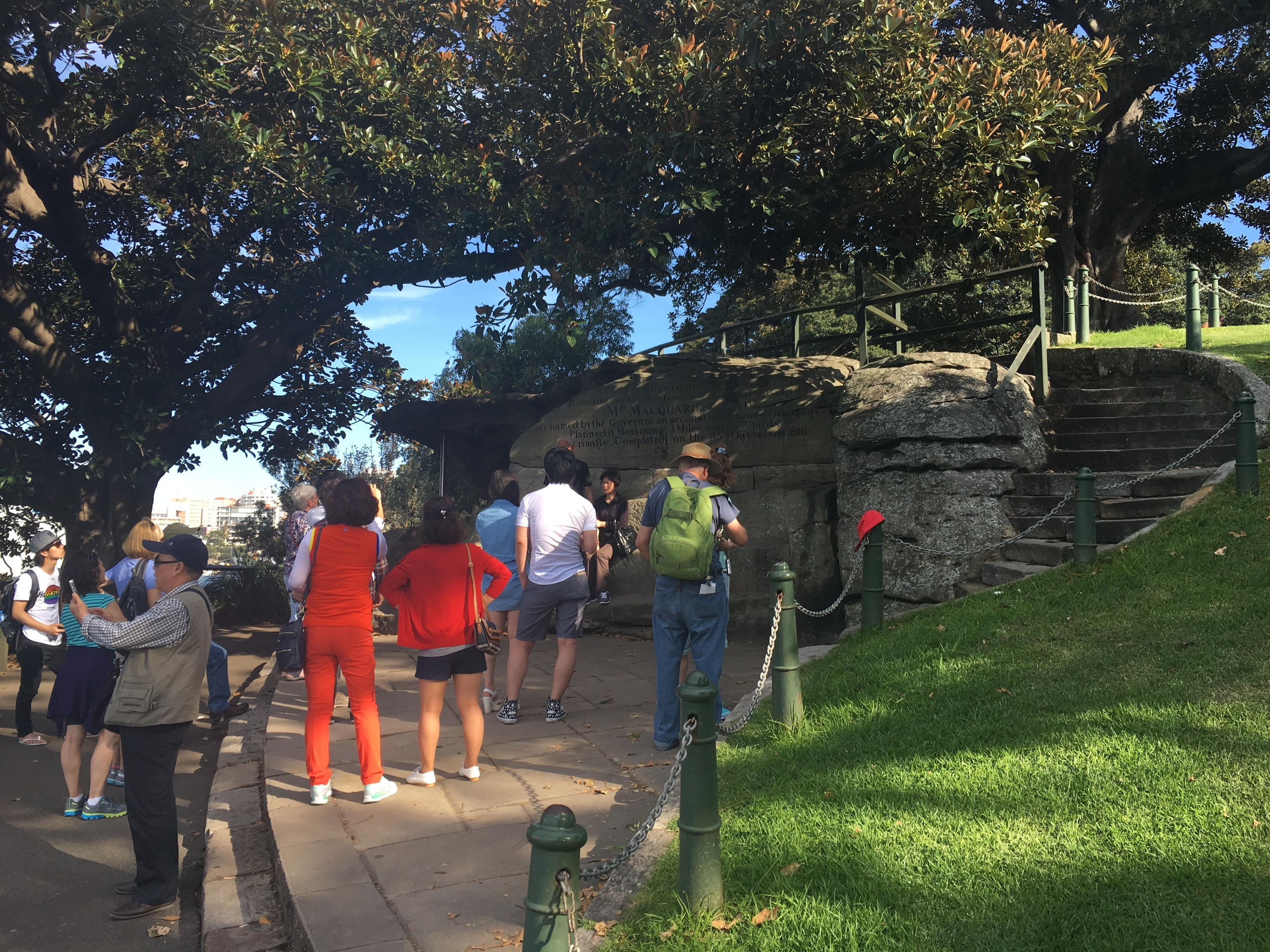 Taking turns on Mrs Macquarie's Chair