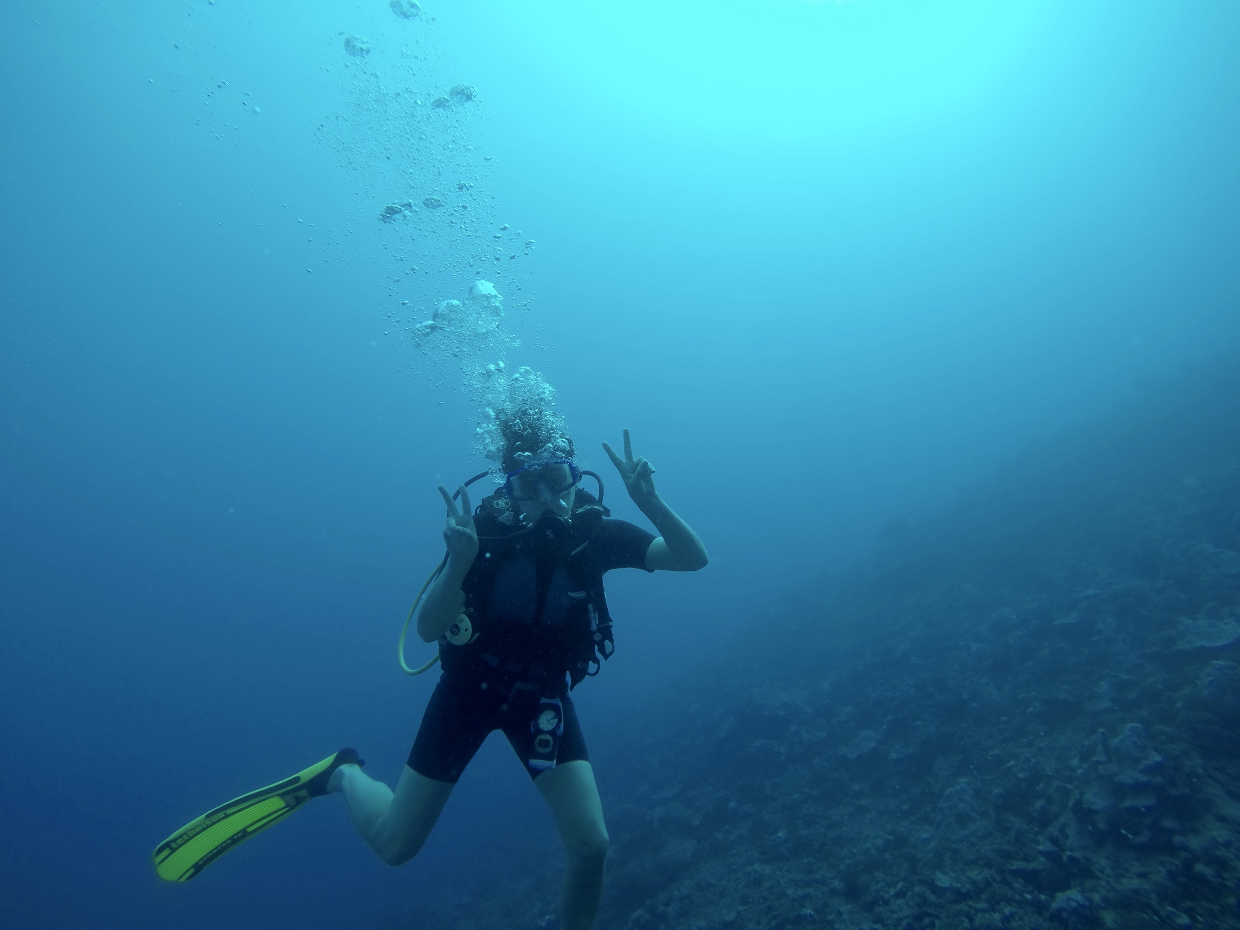 Our first Moorea dive