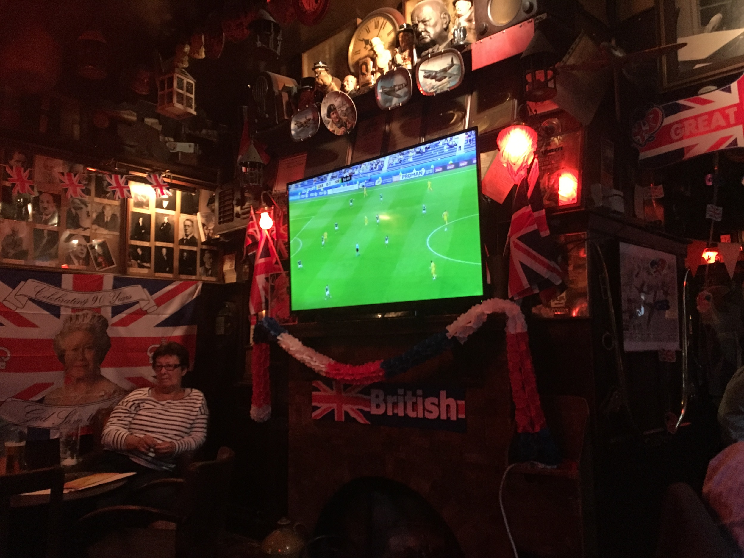 Euro Cup at the Churchill Arms