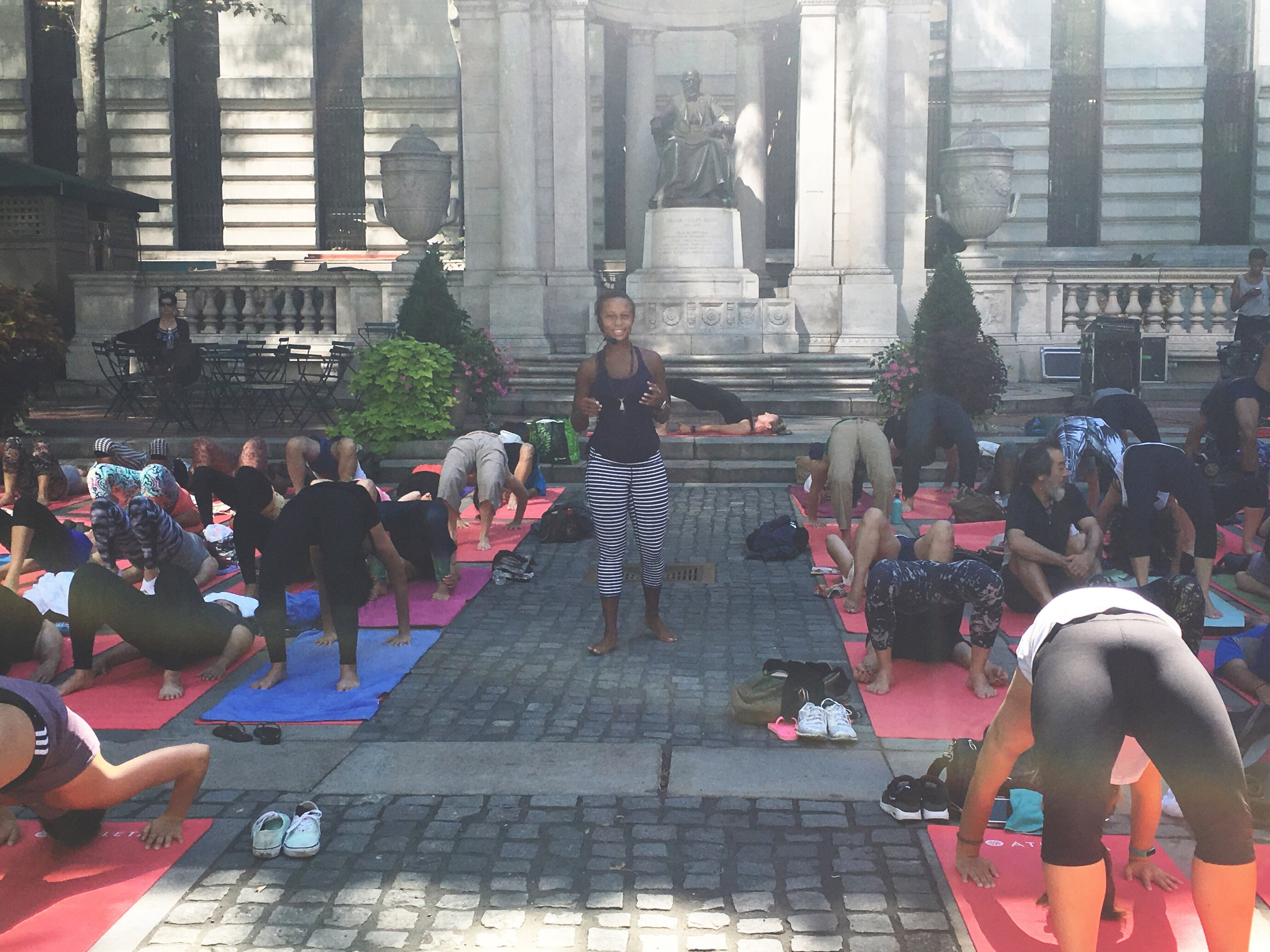 Open Level Class at Bryant Park, NYC