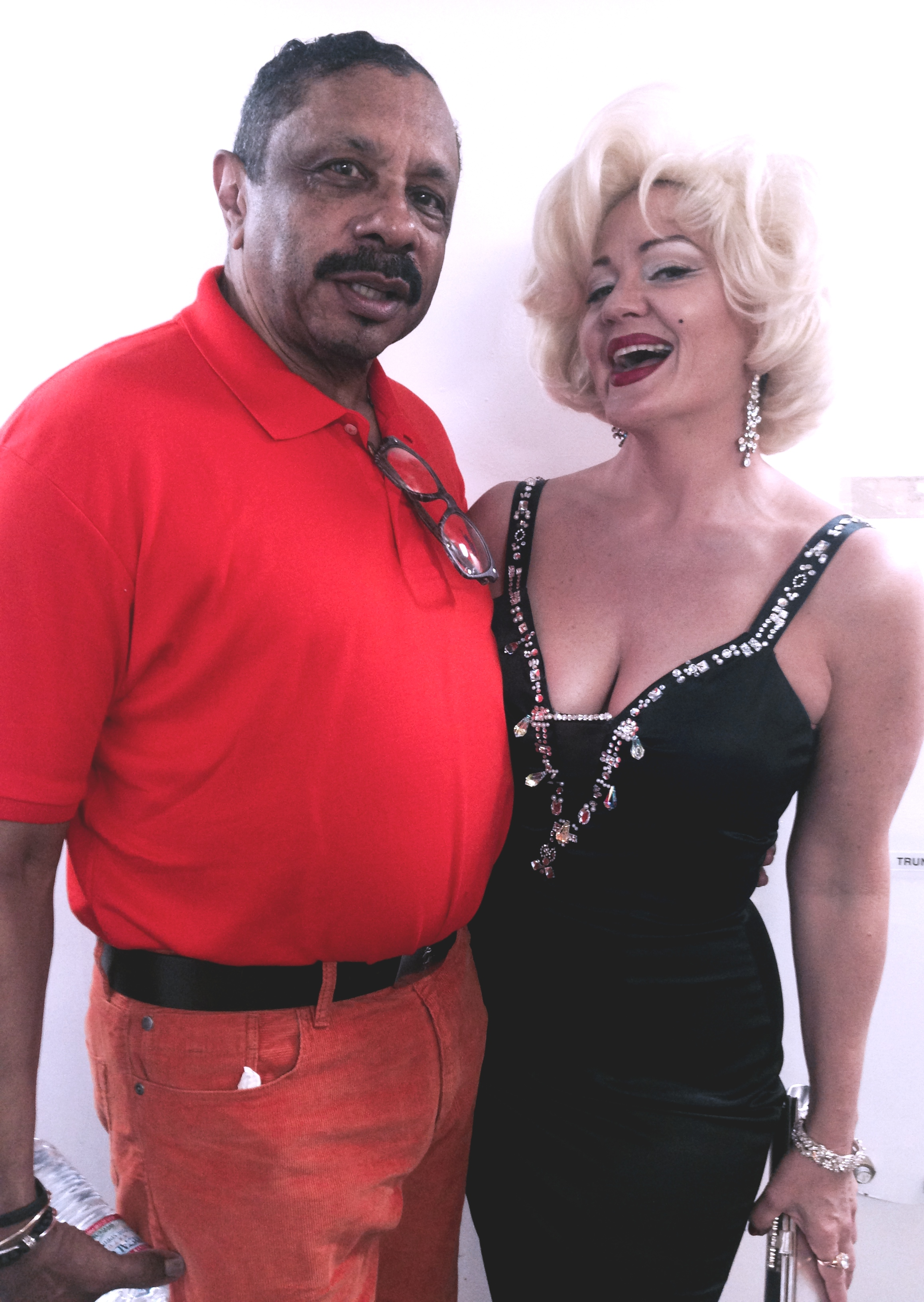 Sheri with Ron Tyson of the 'Temptations'
