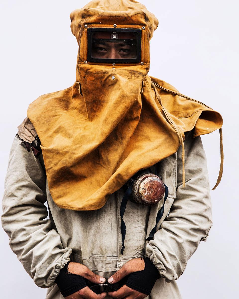 A shipyard worker Sasebo, Japan 2016
