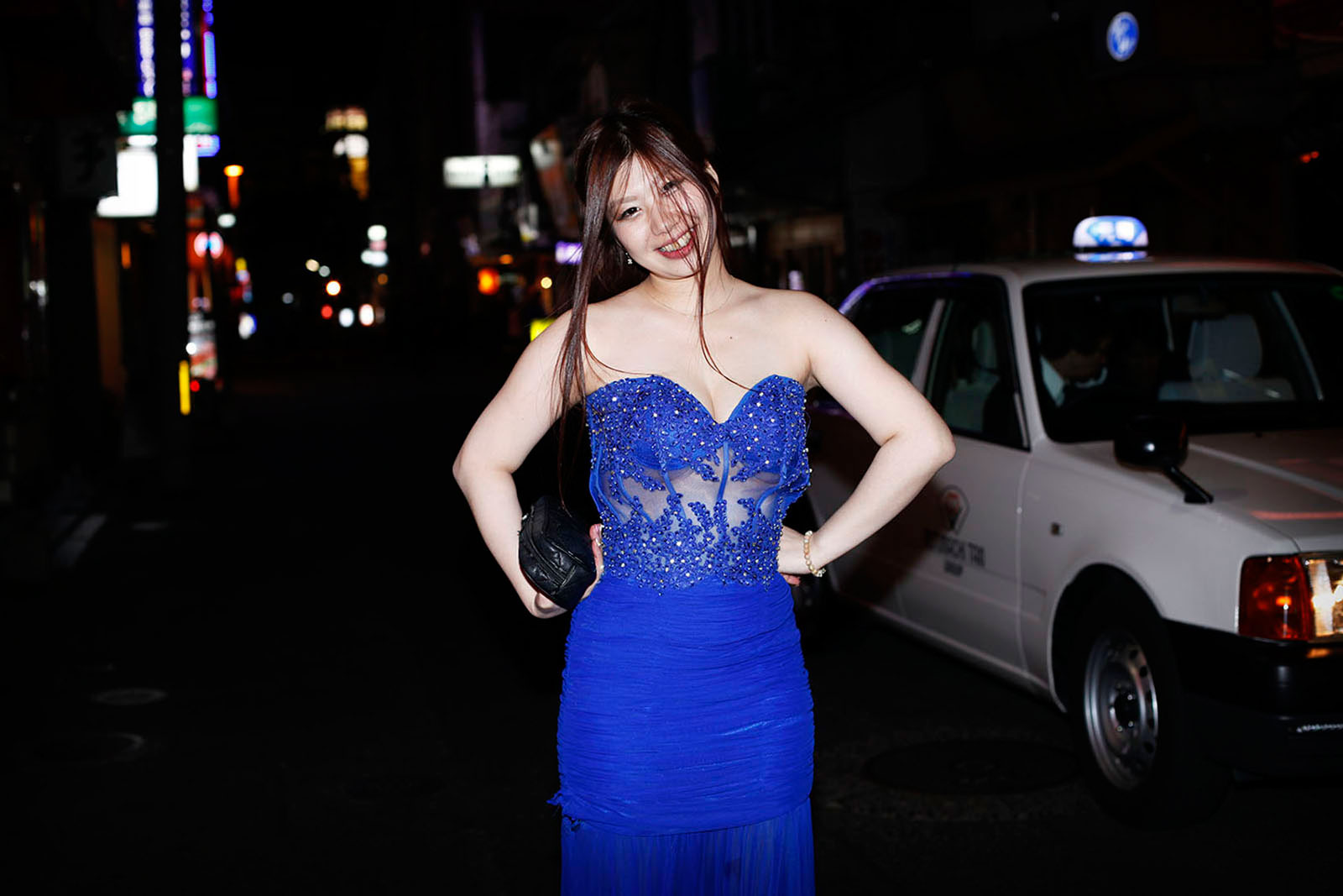 A girl in a blue dress Sasebo, Japan 2015