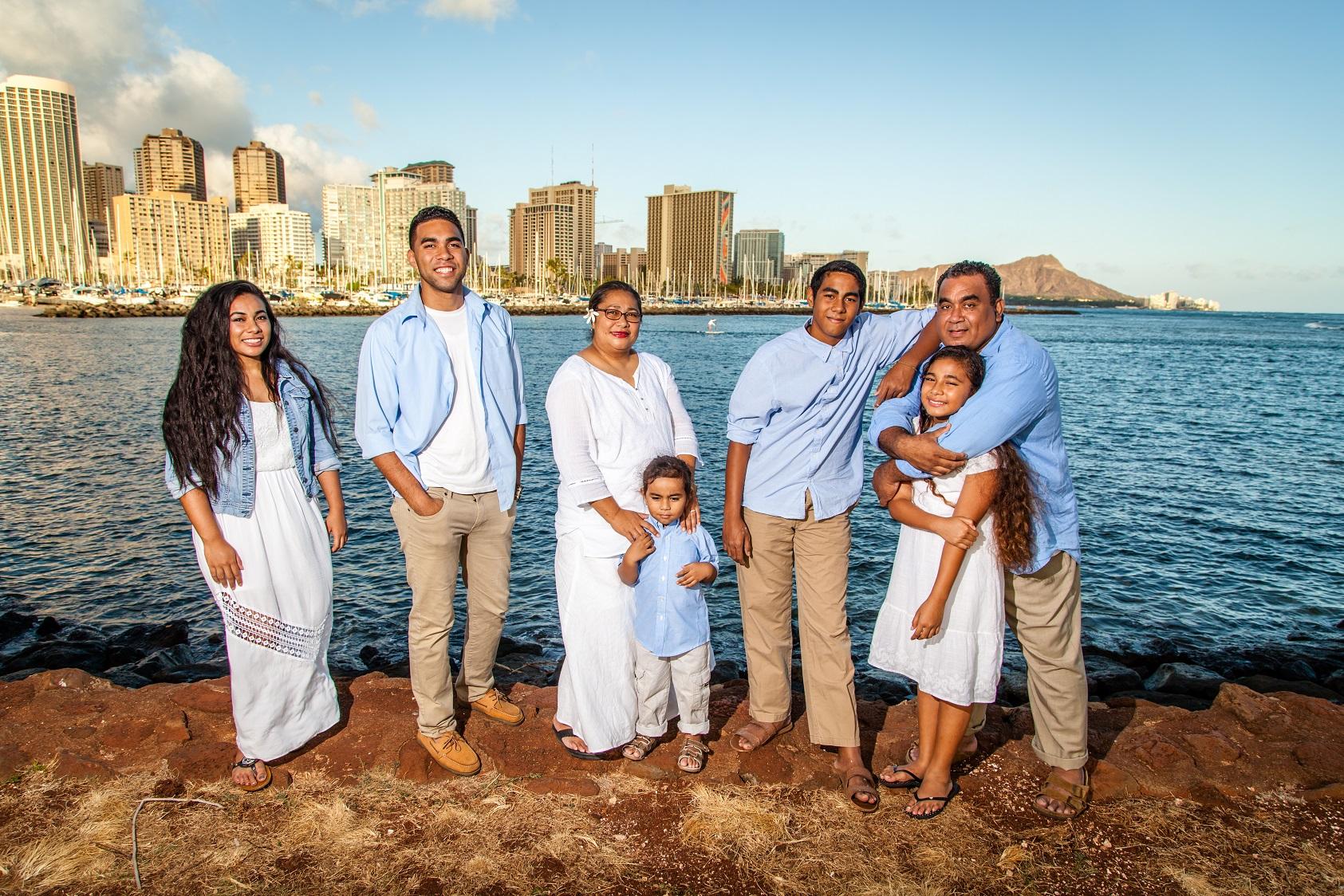 oahu family beach portraits