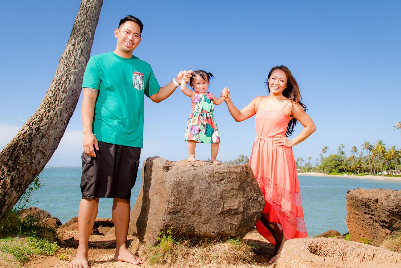 hawaii oahu family kids beach photos