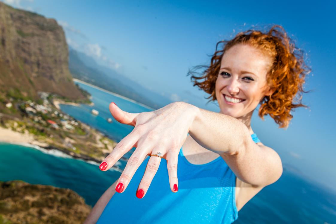 oahu couples surprise proposal photos
