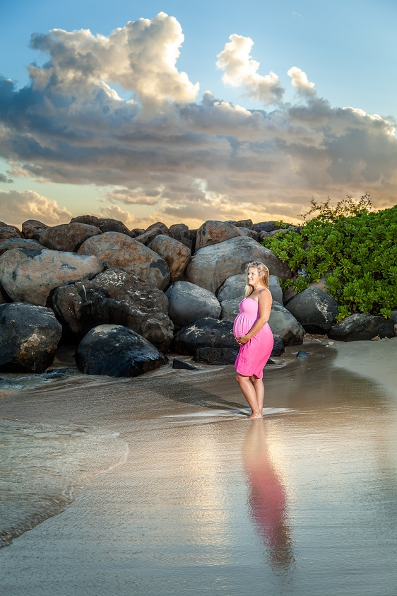 oahu maternity pregnancy baby bump photography