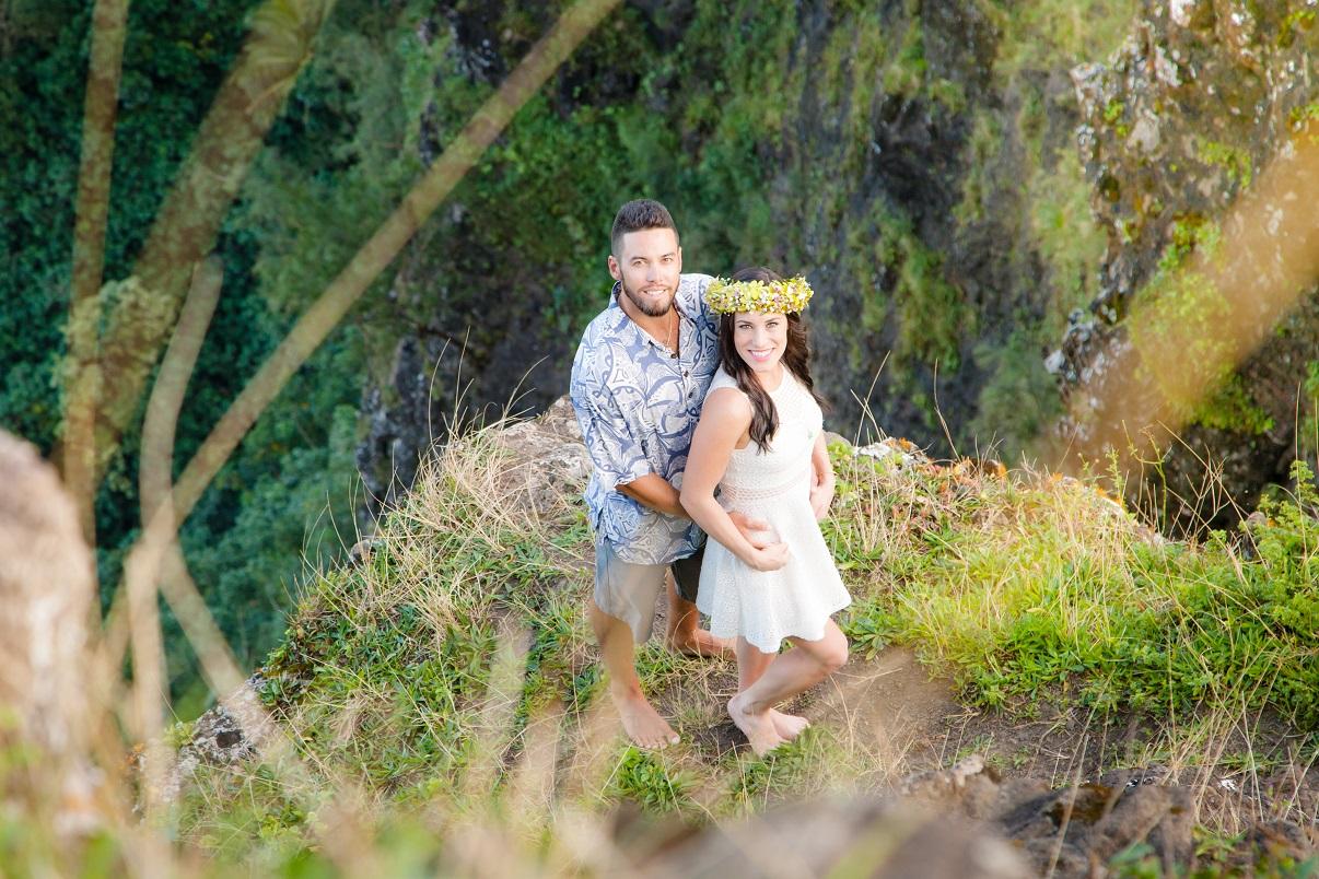 oahu destination engagment proposal wedding photographer