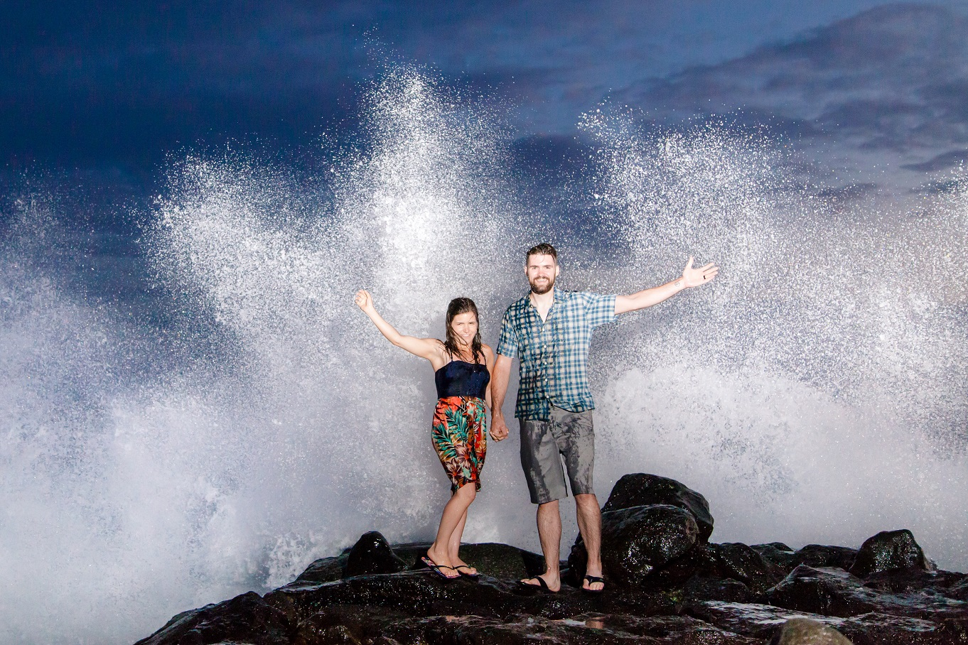 oahu engagement photographer magic island sunset