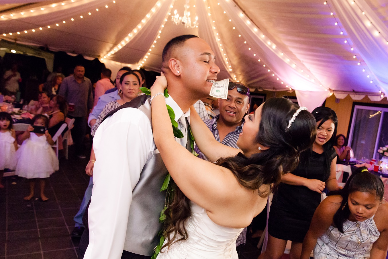 hawaiian wedding first dance party celebration