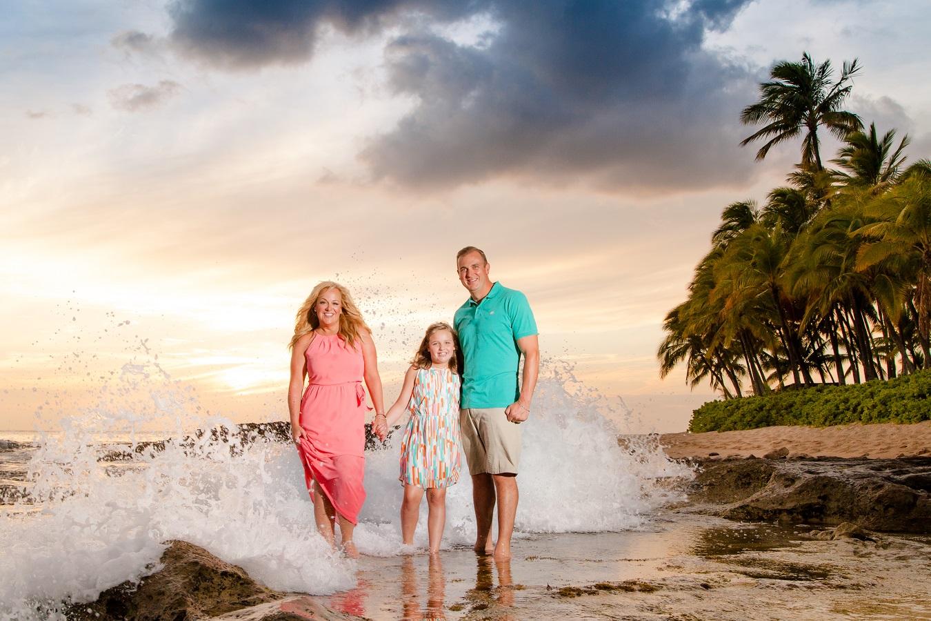 ko olina family beach sunset photography oahu