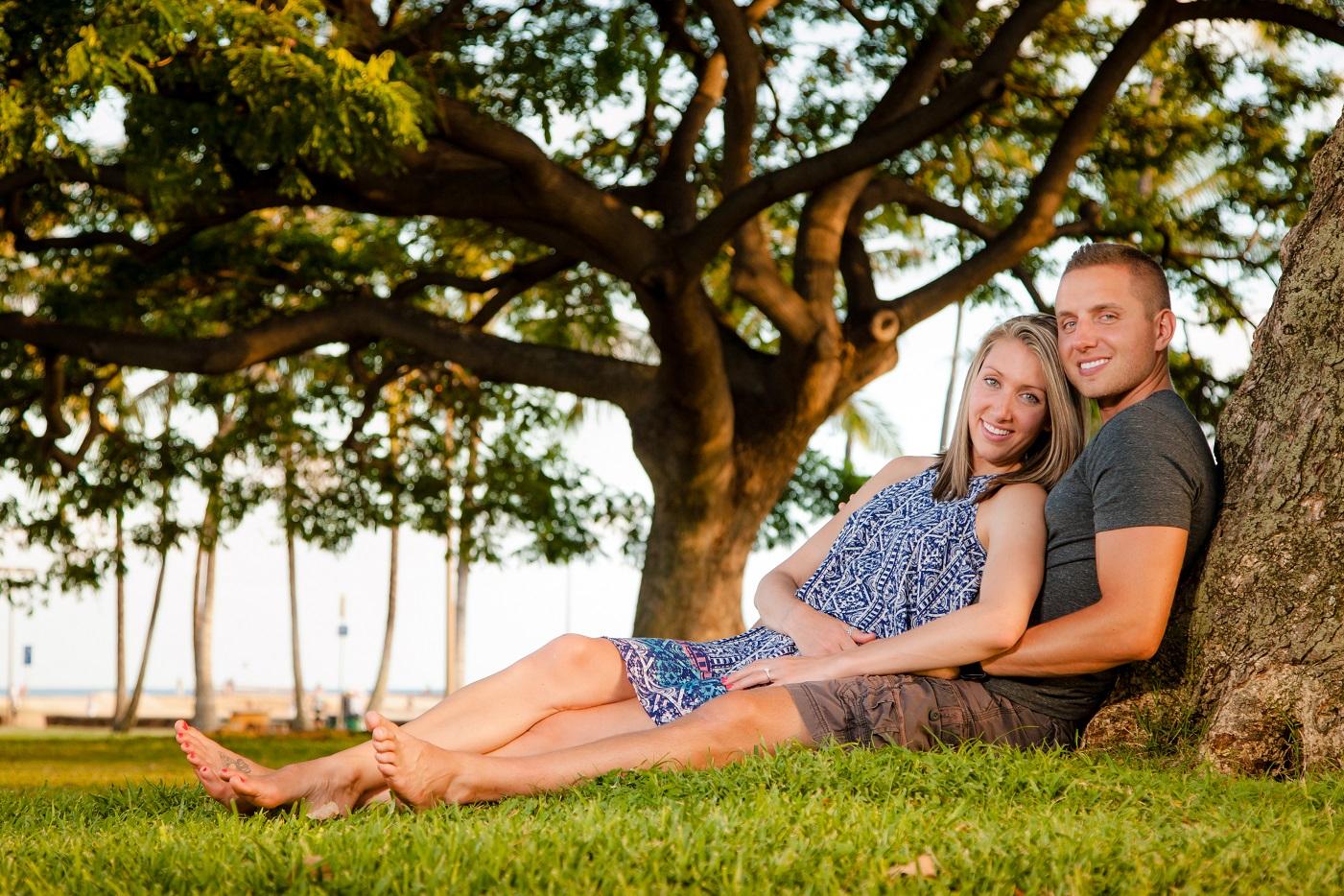 hawaii couples engagement proposal photographer