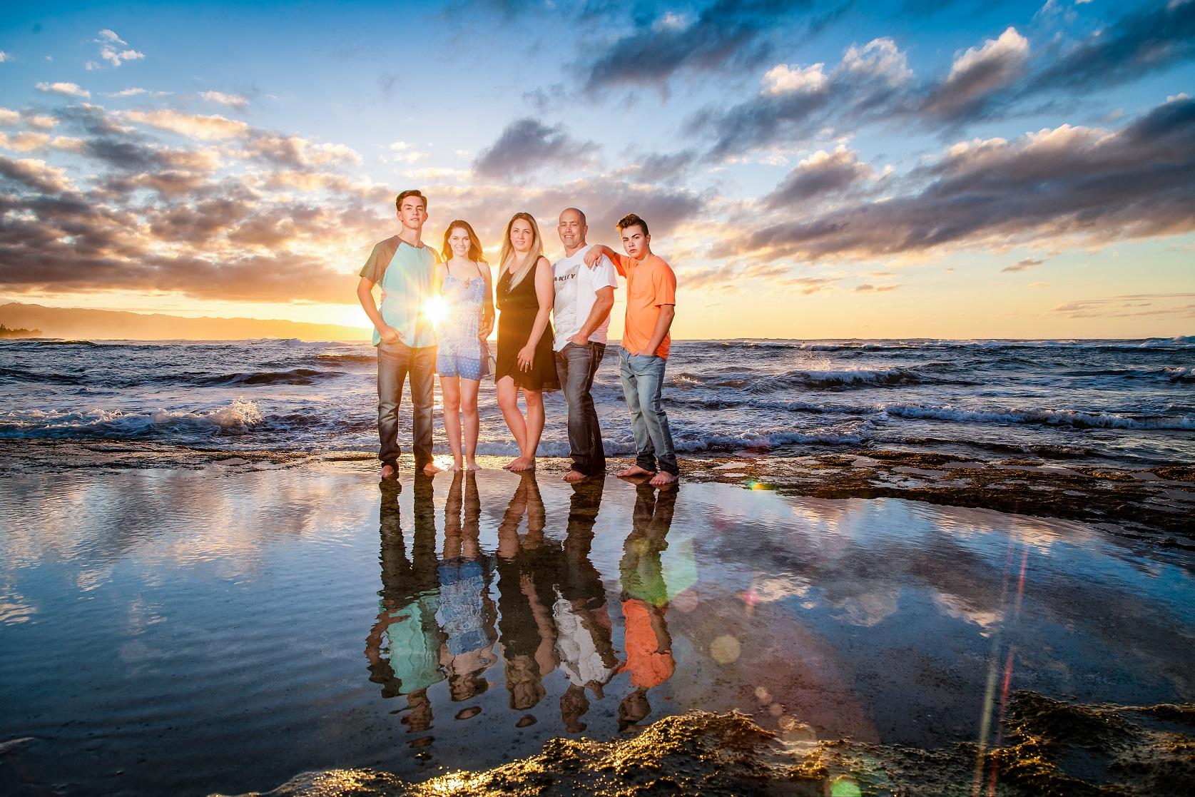 family beach photographer north shore oahu