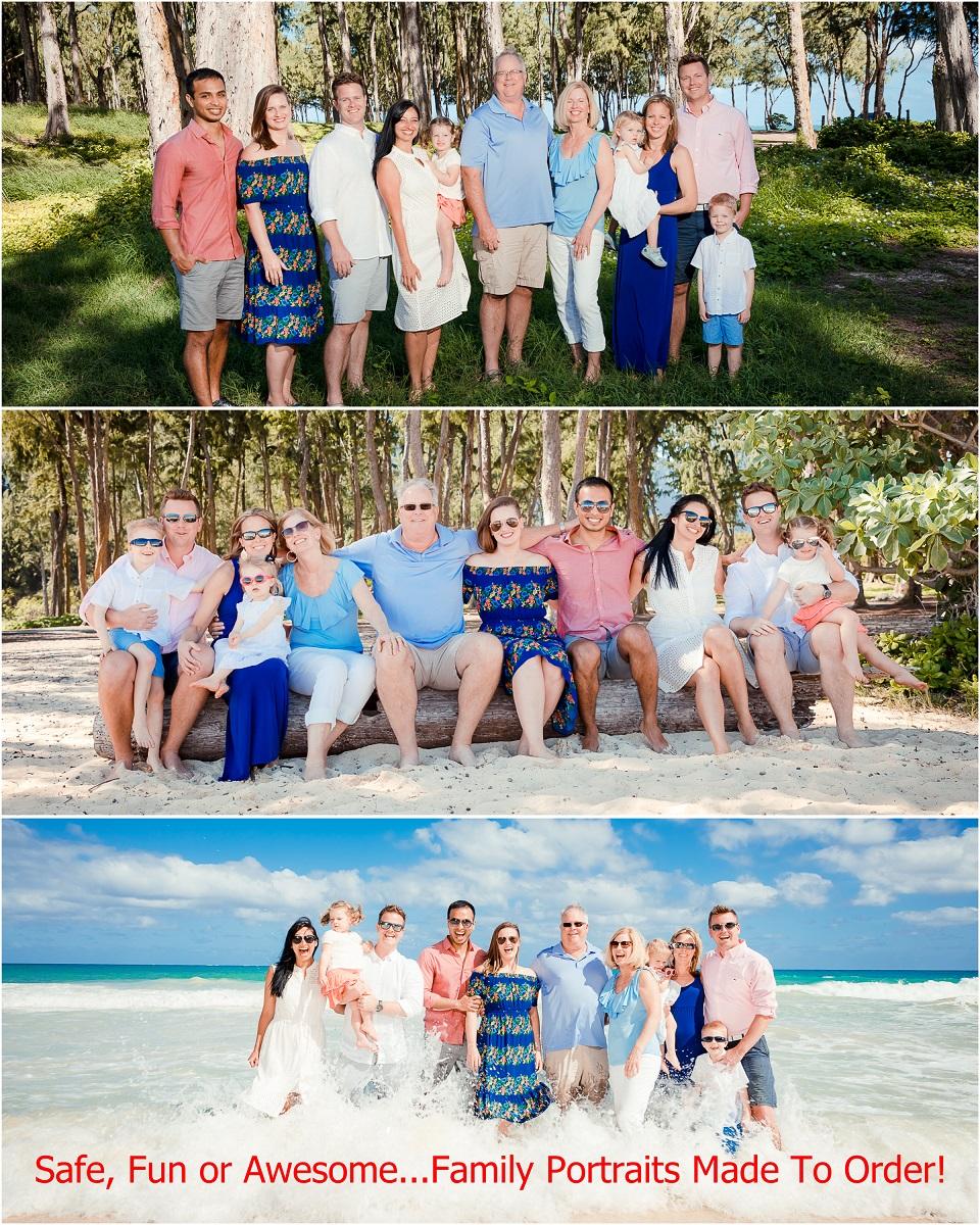 family beach portraits waikiki oahu photographer