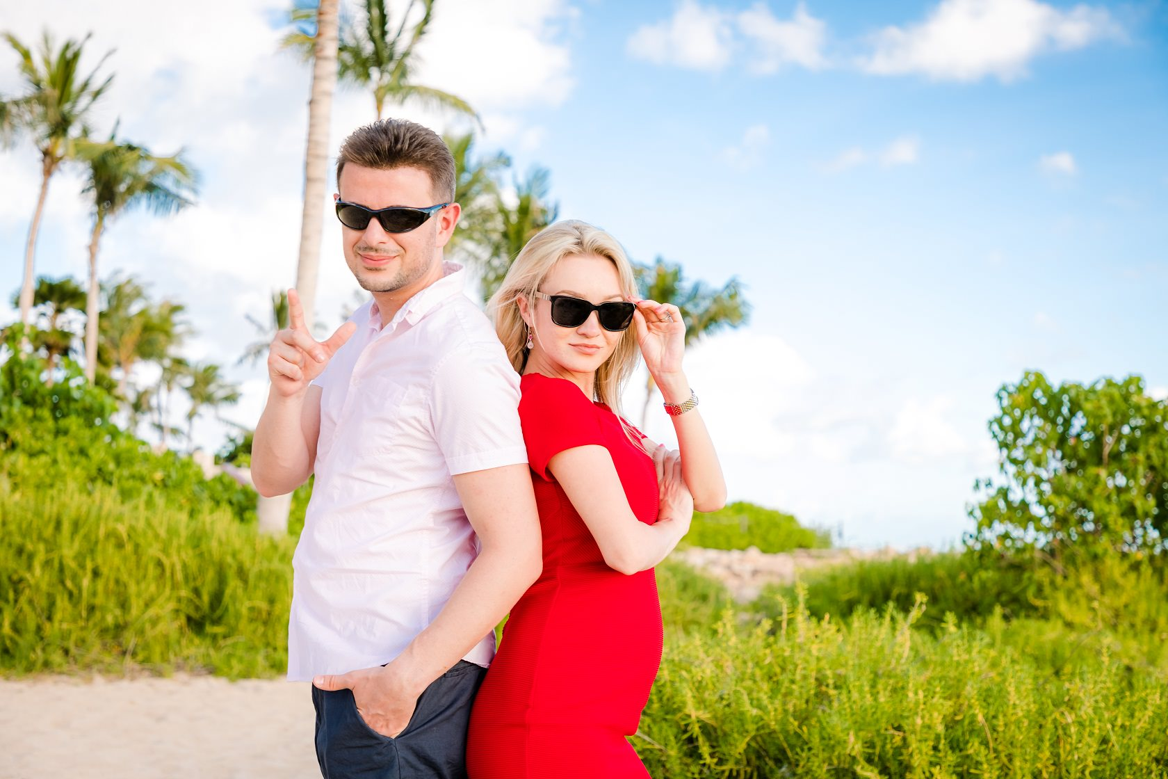 couples engagement beach portrait