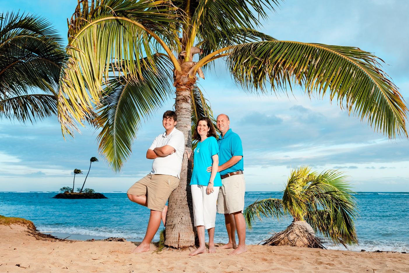 family vacation beach portrait kahala hotel resort oahu hawaii