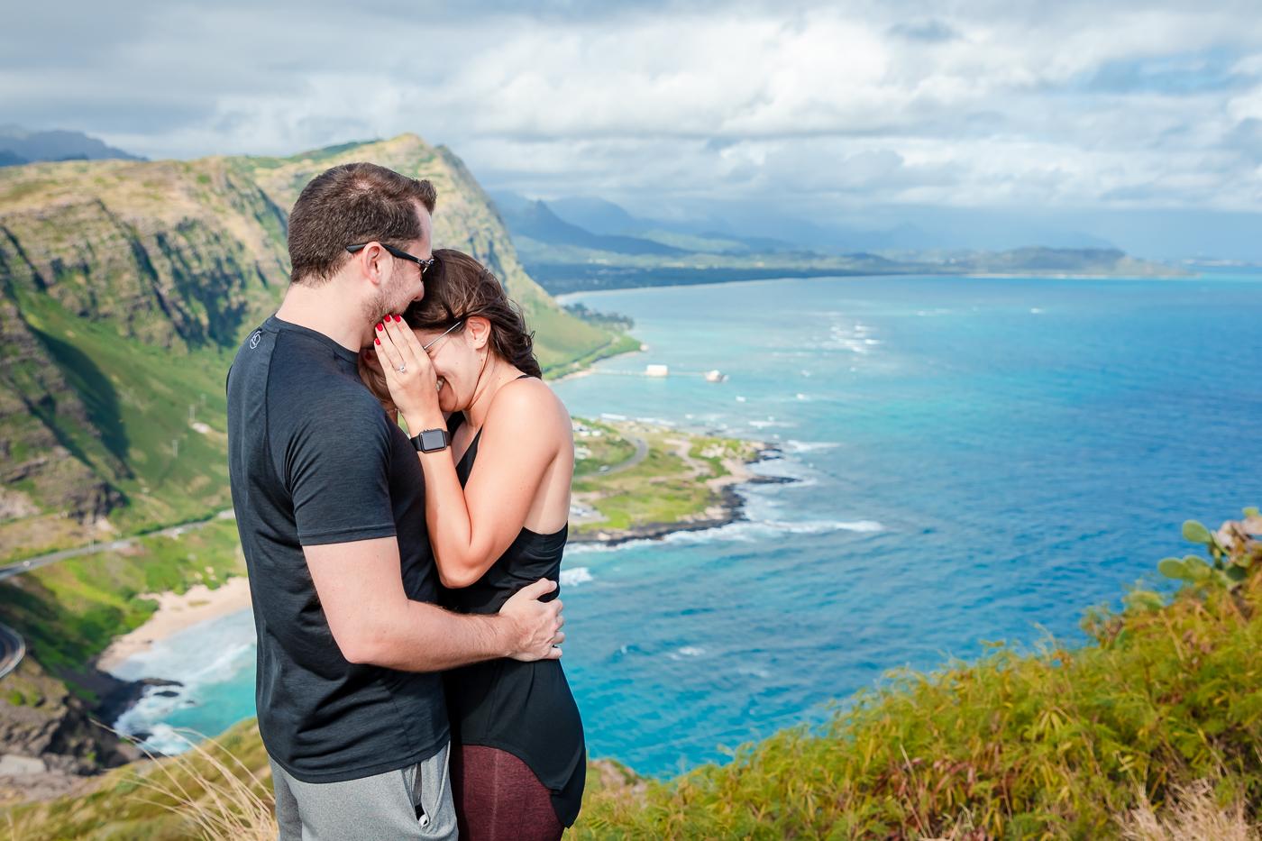 romantic couples surprise proposal photo session oahu hawaii