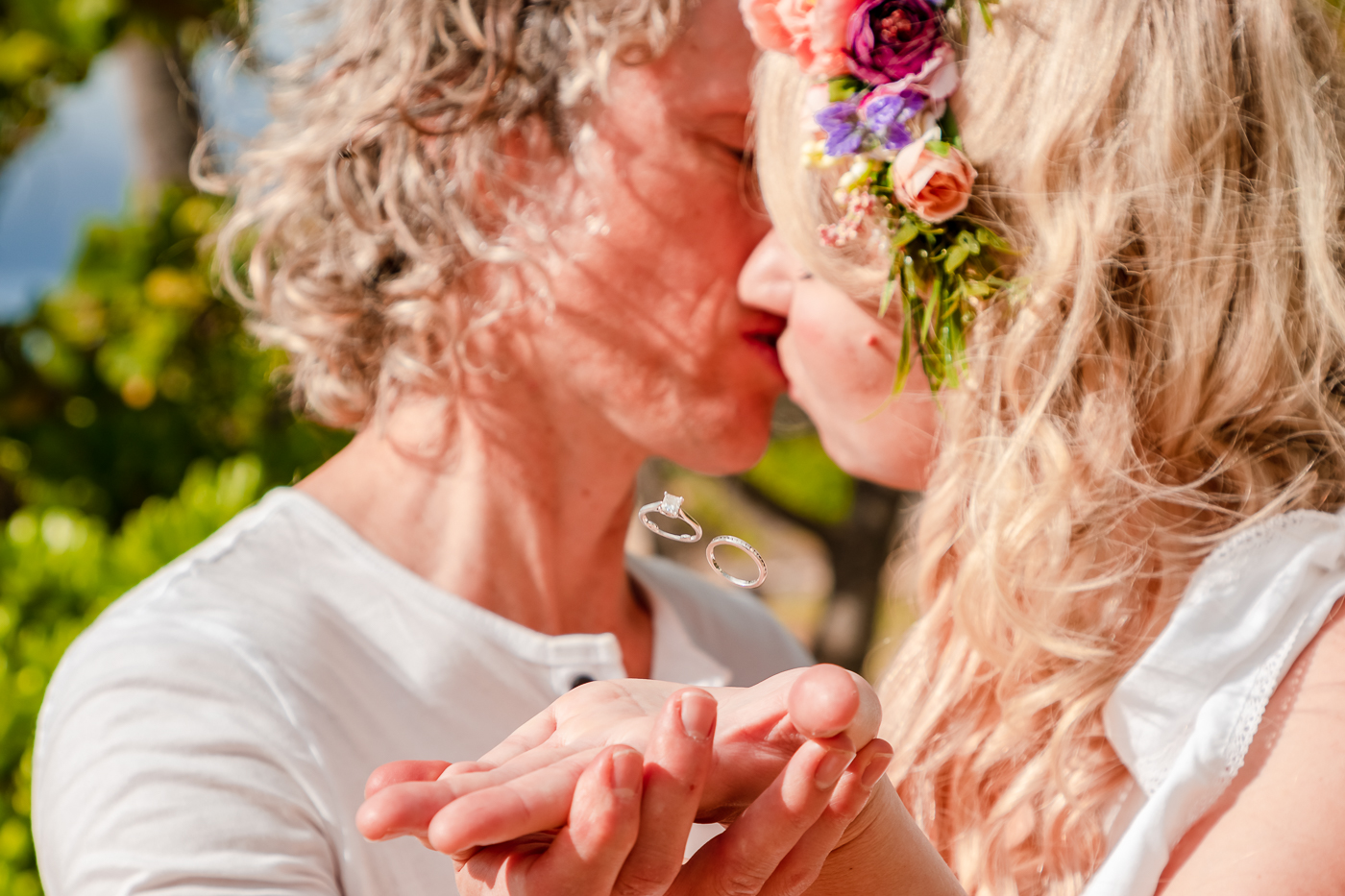 romantic couples anniversary portrait wedding rings waikiki