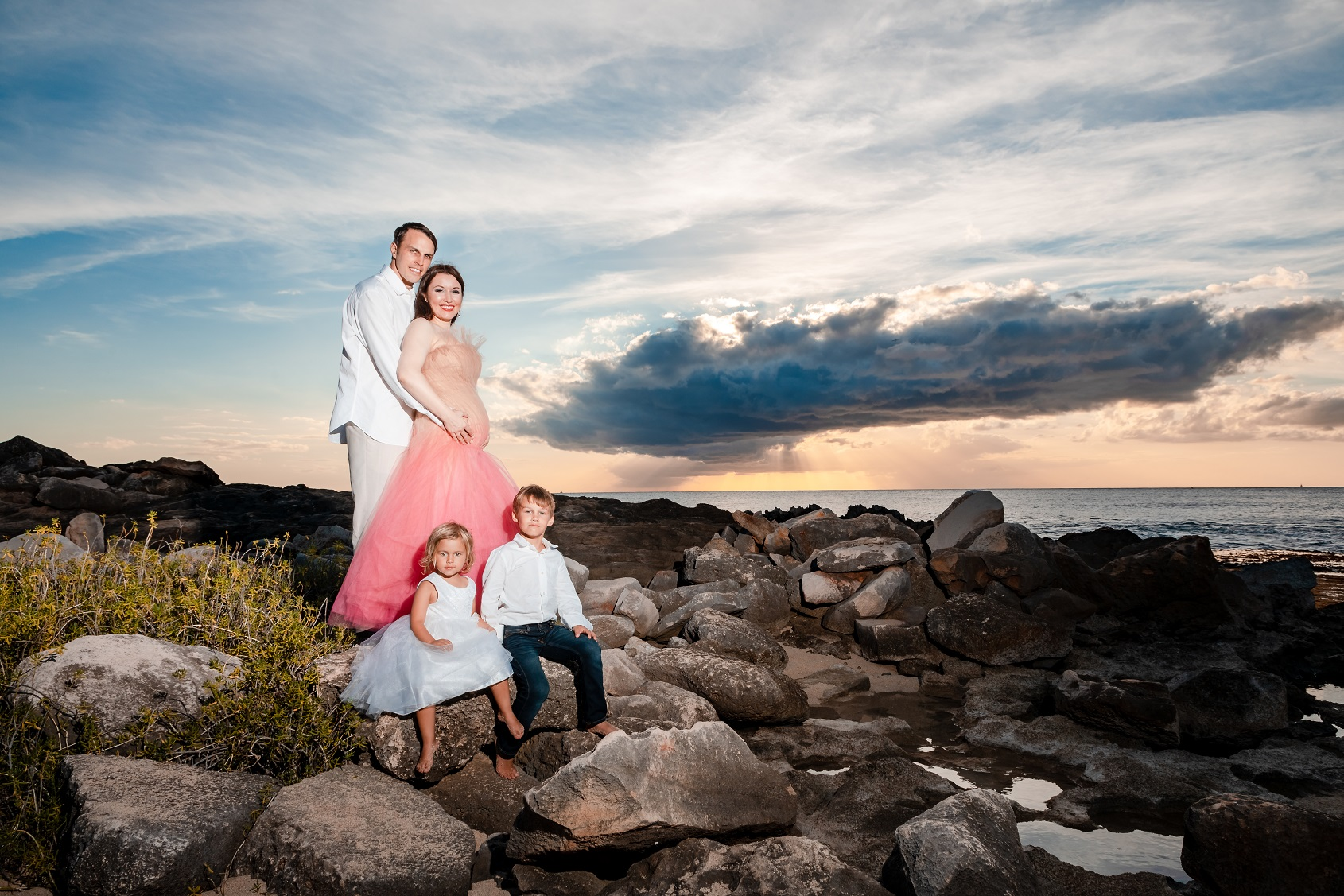 Gorgeous Sunset Family Portraits