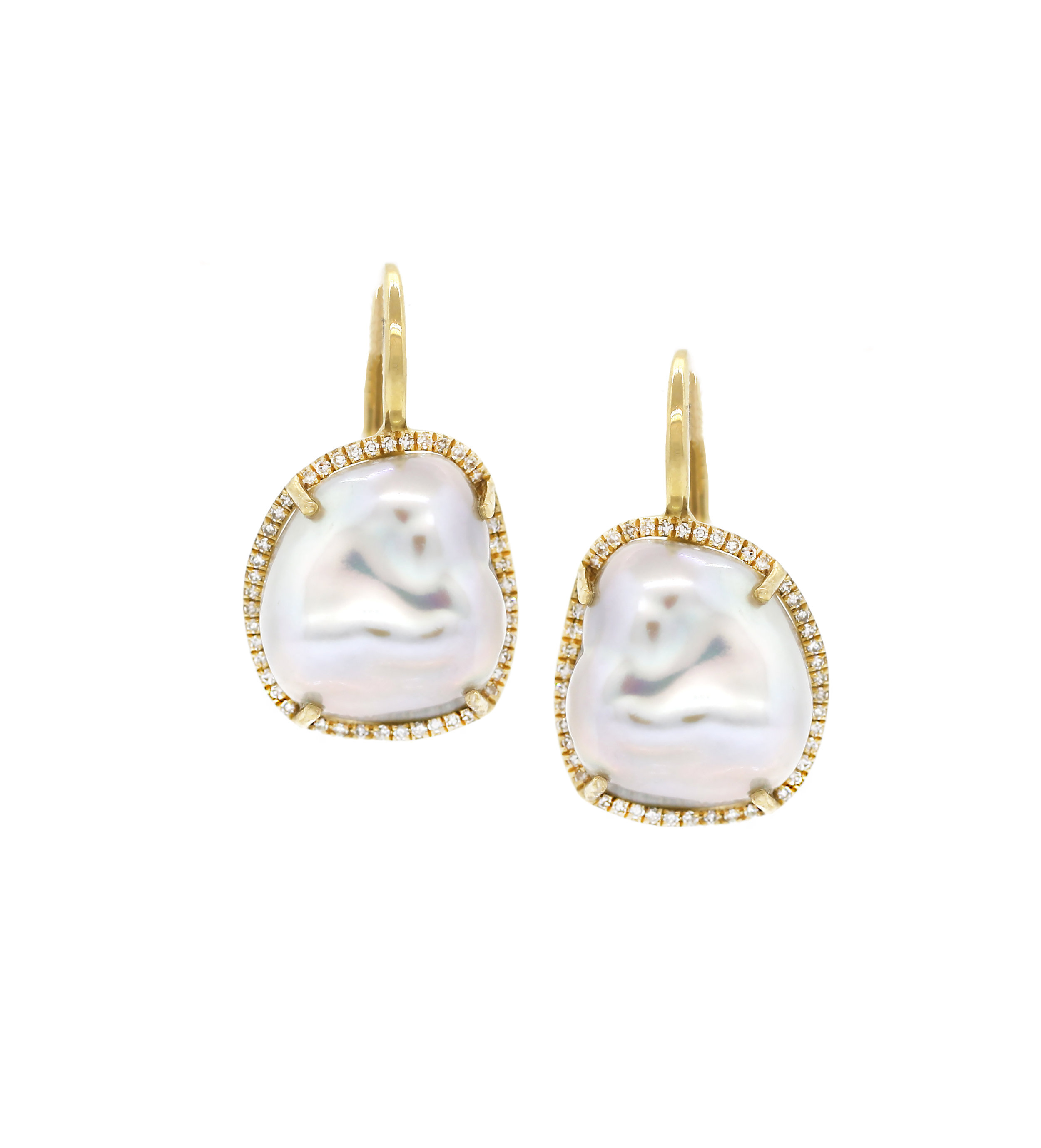 Pearl Diamond Drop Earrings Yellow Gold.jpg