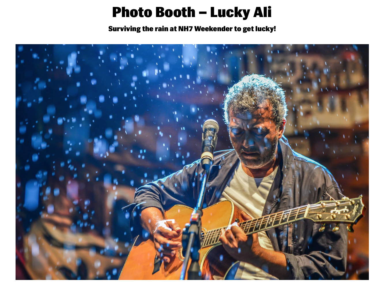 Photo Booth : Lucky Ali