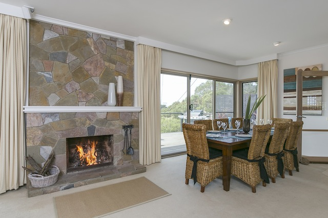 Feature fireplace for winter nights