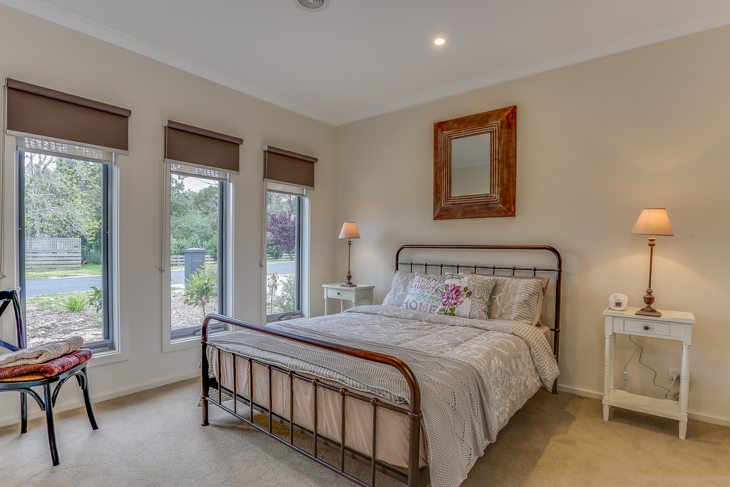 Master bedroom (downstairs) with ensuite and walk in robe