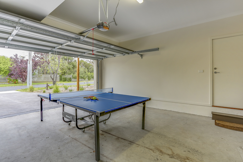 Double garage (accessible from house) with table tennis