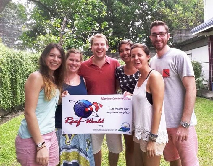 The Reef-World Team, from left to right: Me, Chloe, JJ, Sam, Jula and Alan