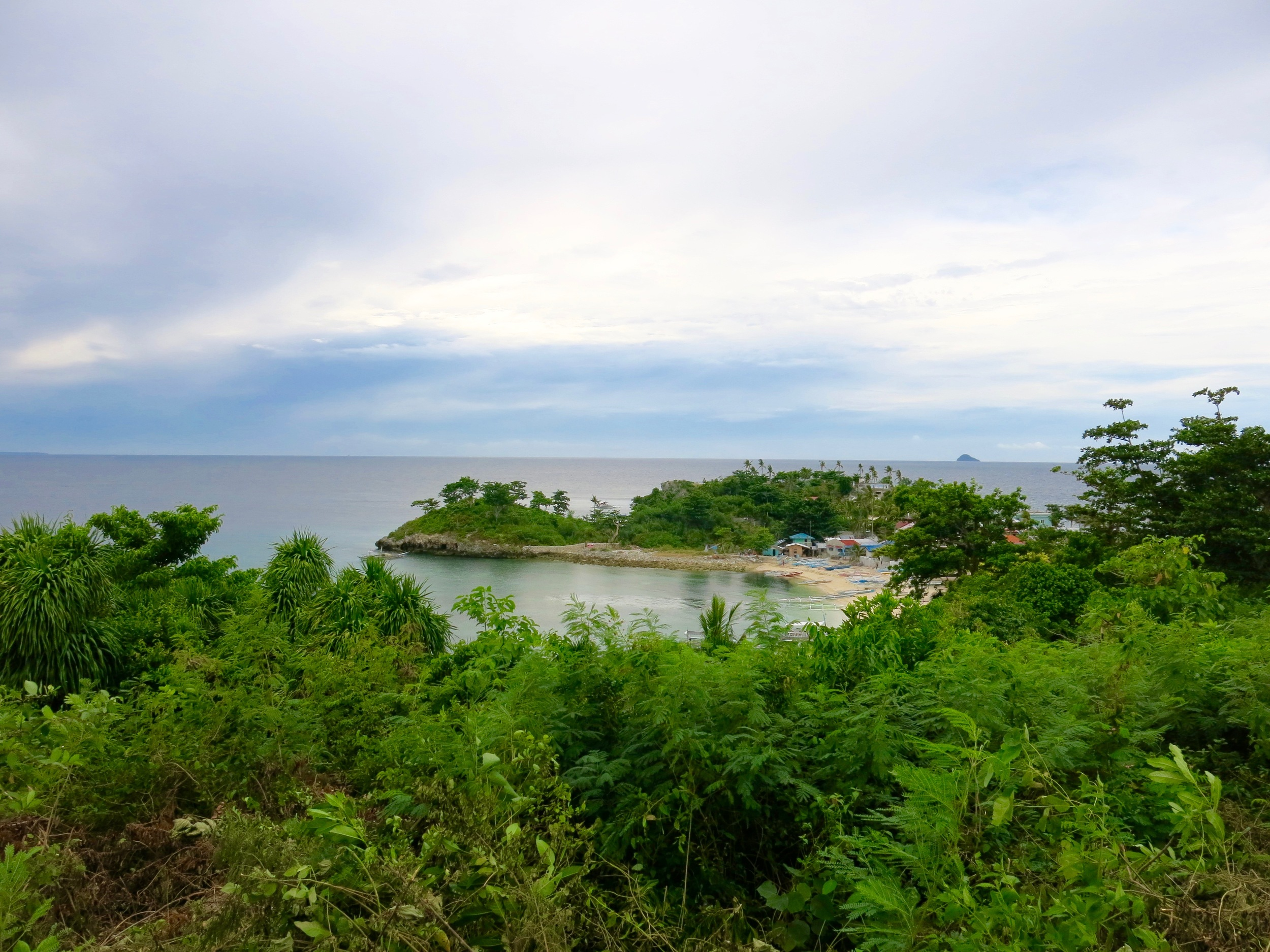 The view from Malapascua Island lighthouse