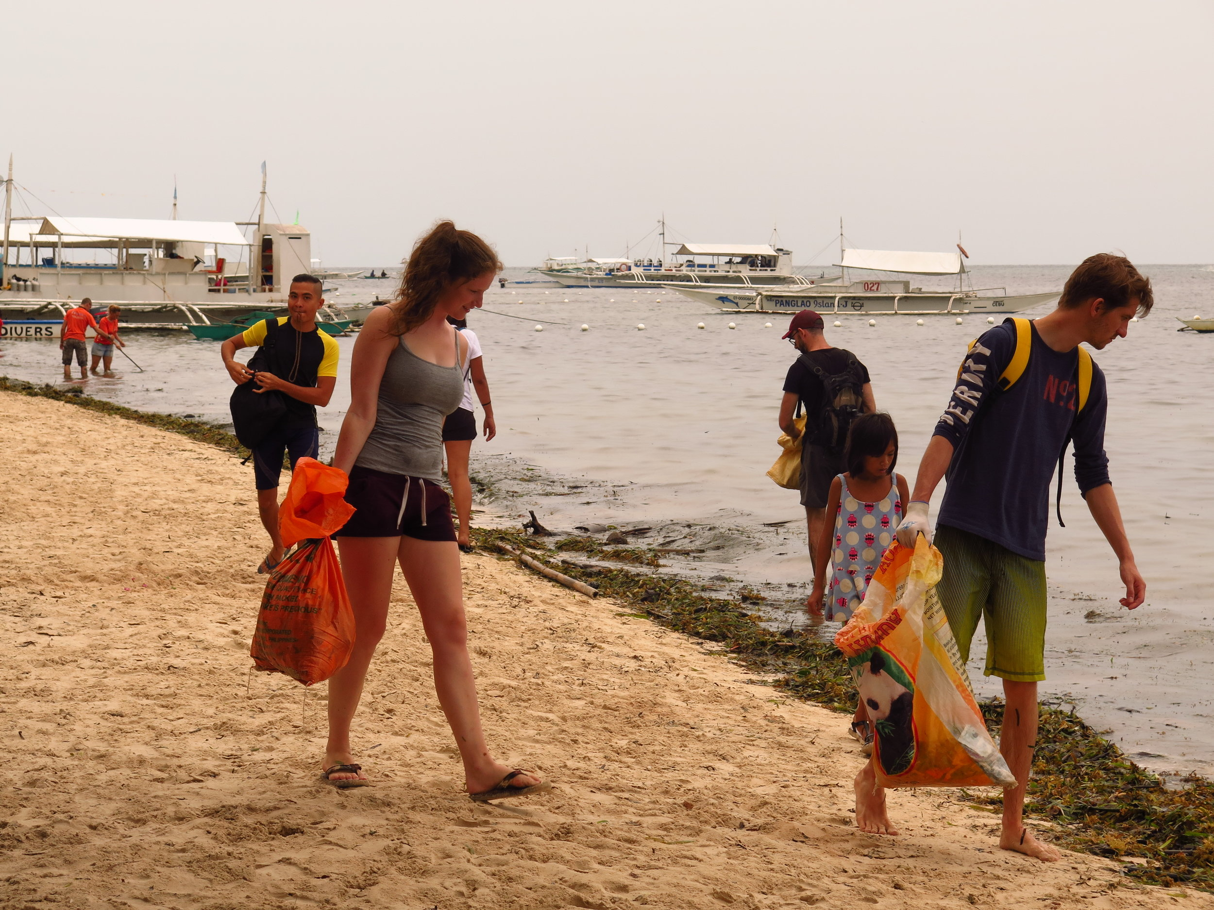 My first beach clean-up in the Philippines in 2017, part of the spark that lit my environmentalism fire.